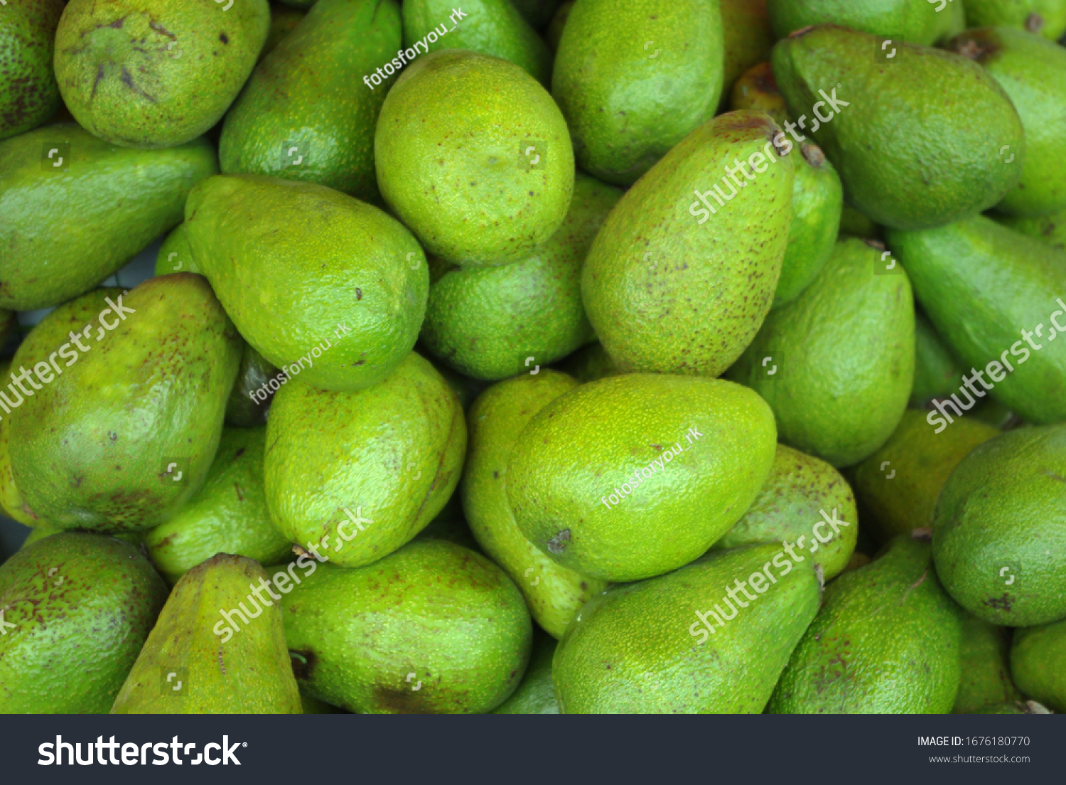 Lots of avocados in a big box