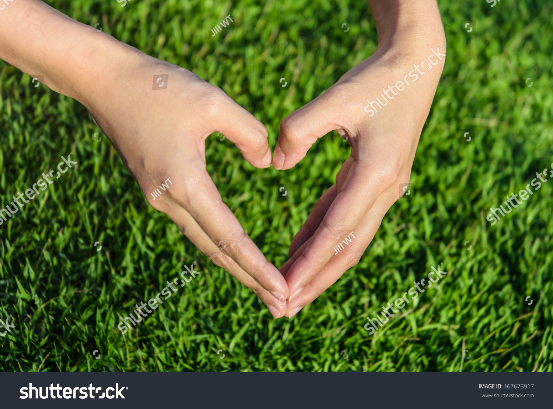 Girl Hand Make Heart Sign By Stock Photo 167673917 - Shutterstock