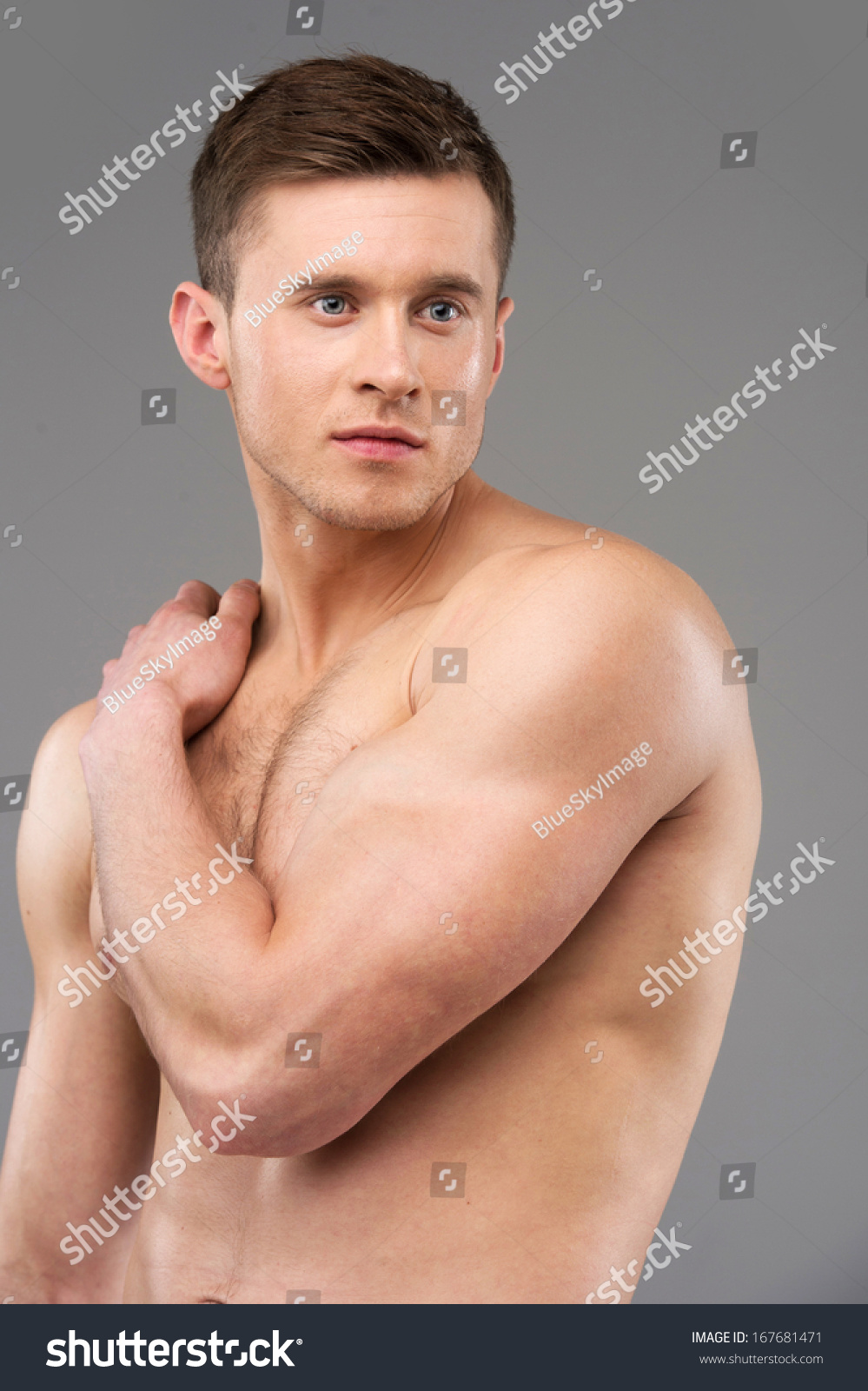 Sexy Nude Fit Male Model Posing Stock Photo 167681471 -8058
