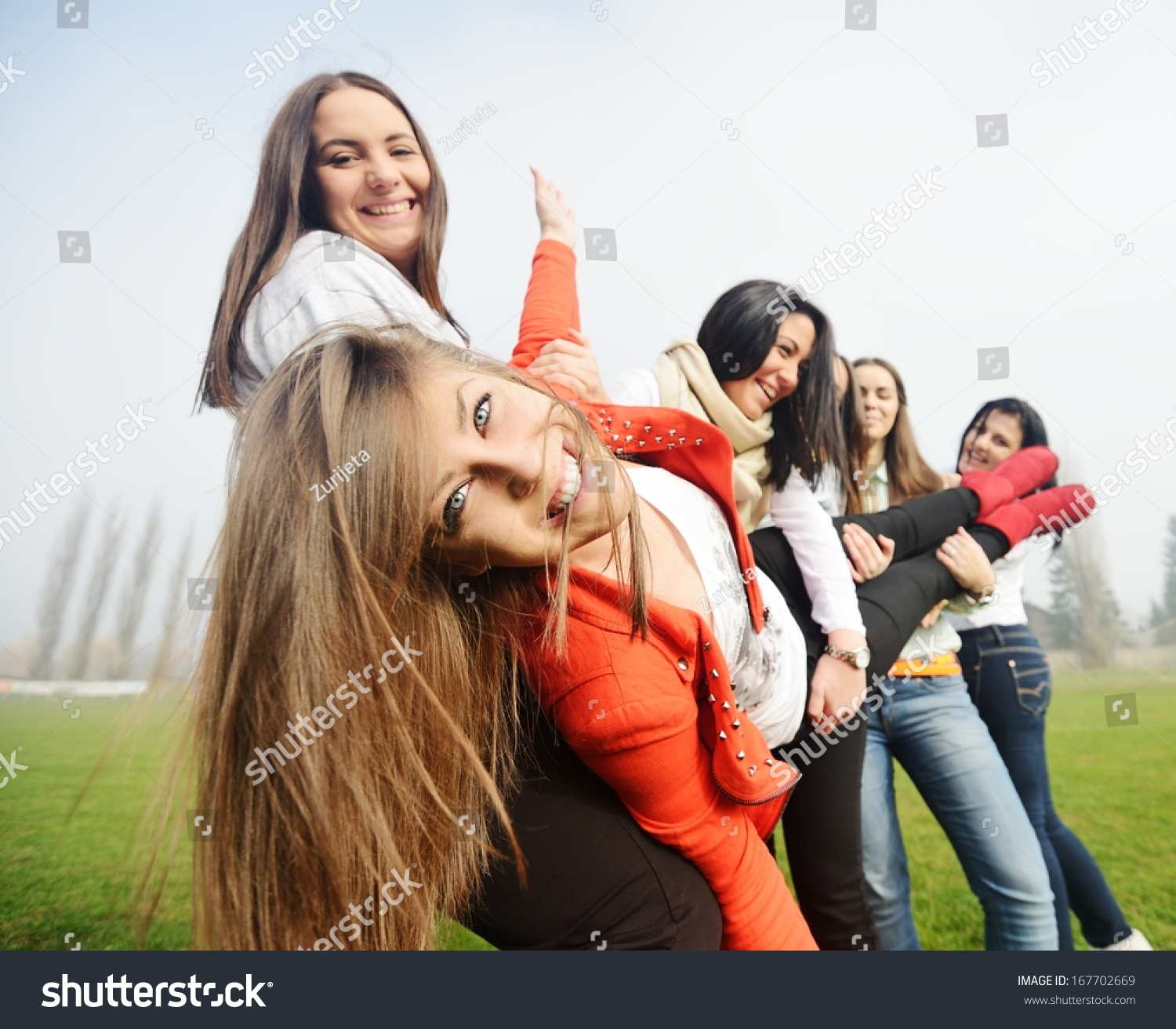 Have Friend having picture teen