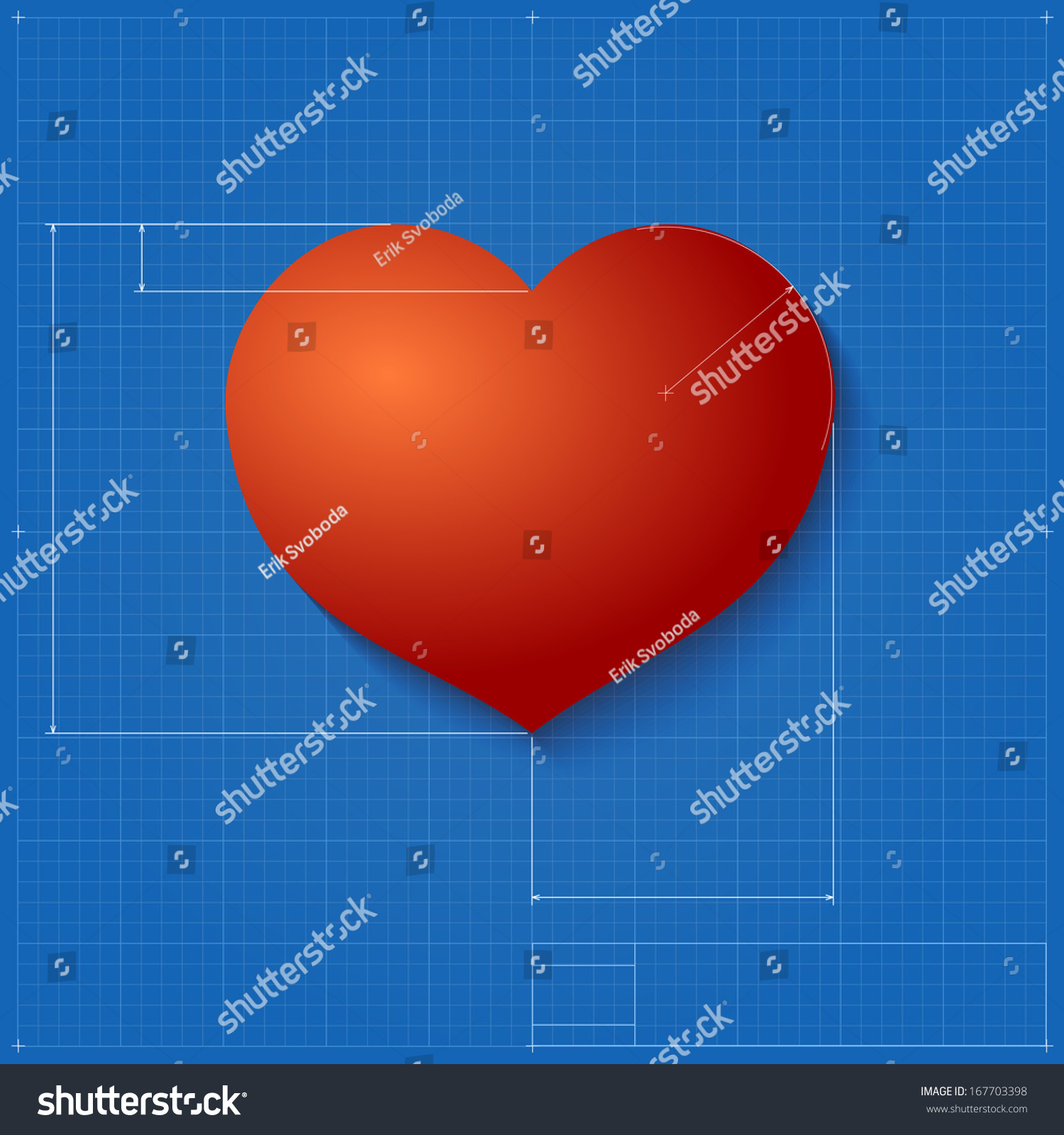 Heart symbol like blueprint drawing stylized stock vector heart symbol like blueprint drawing stylized drafting of gift sign on blueprint paper vector malvernweather Image collections