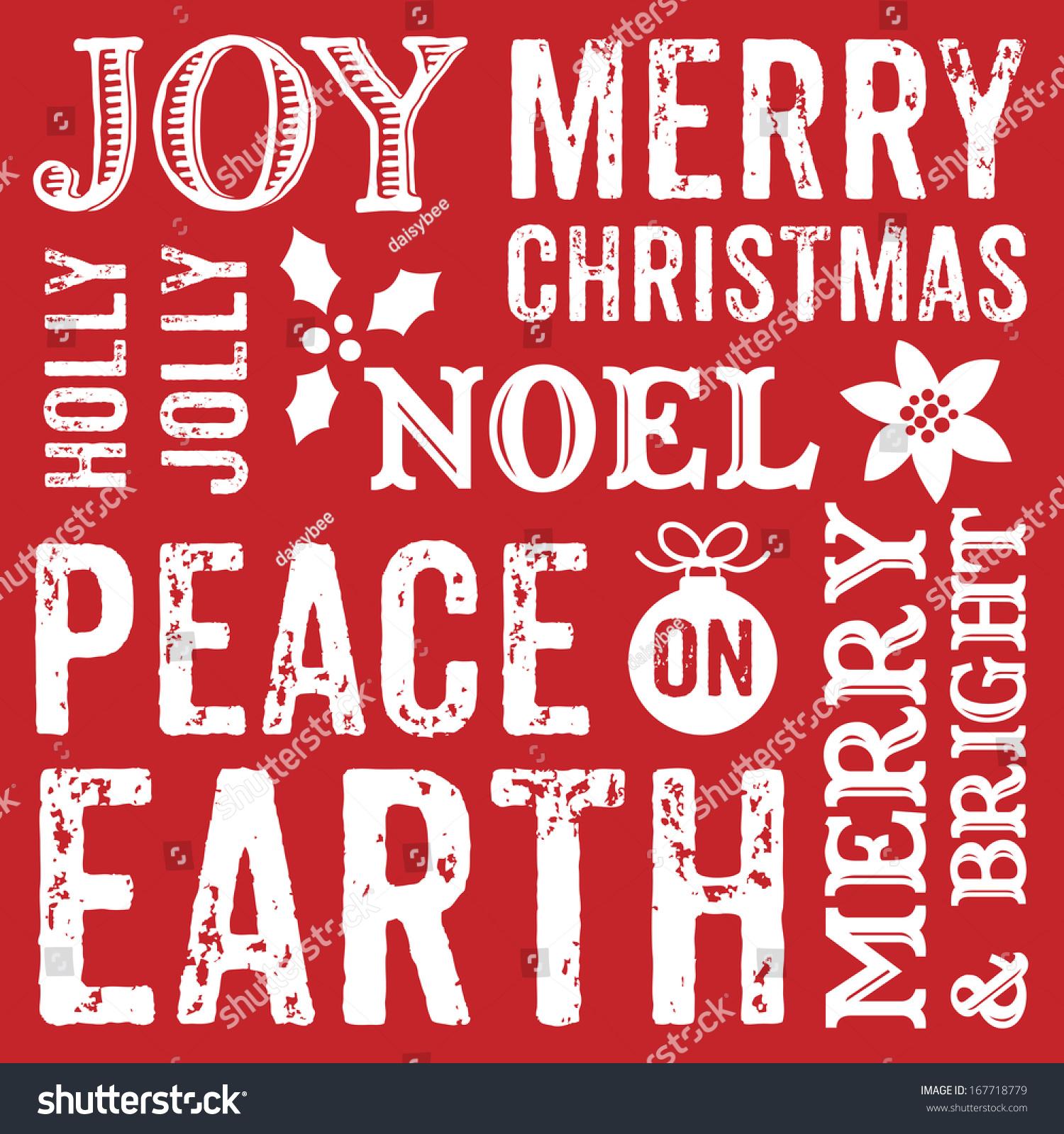 Seamless Typographic Christmas Background Design Greeting Stock