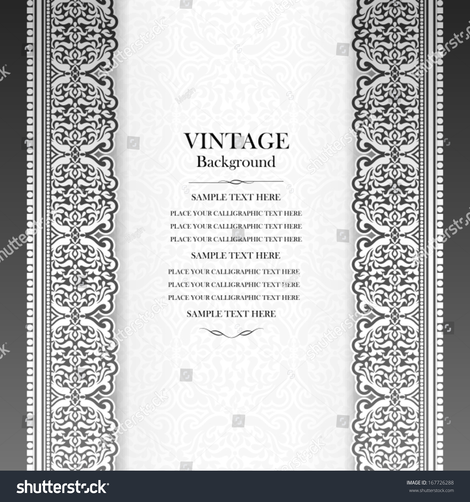Beautiful Book Cover Template ~ Vintage background design elegant book cover stock vector