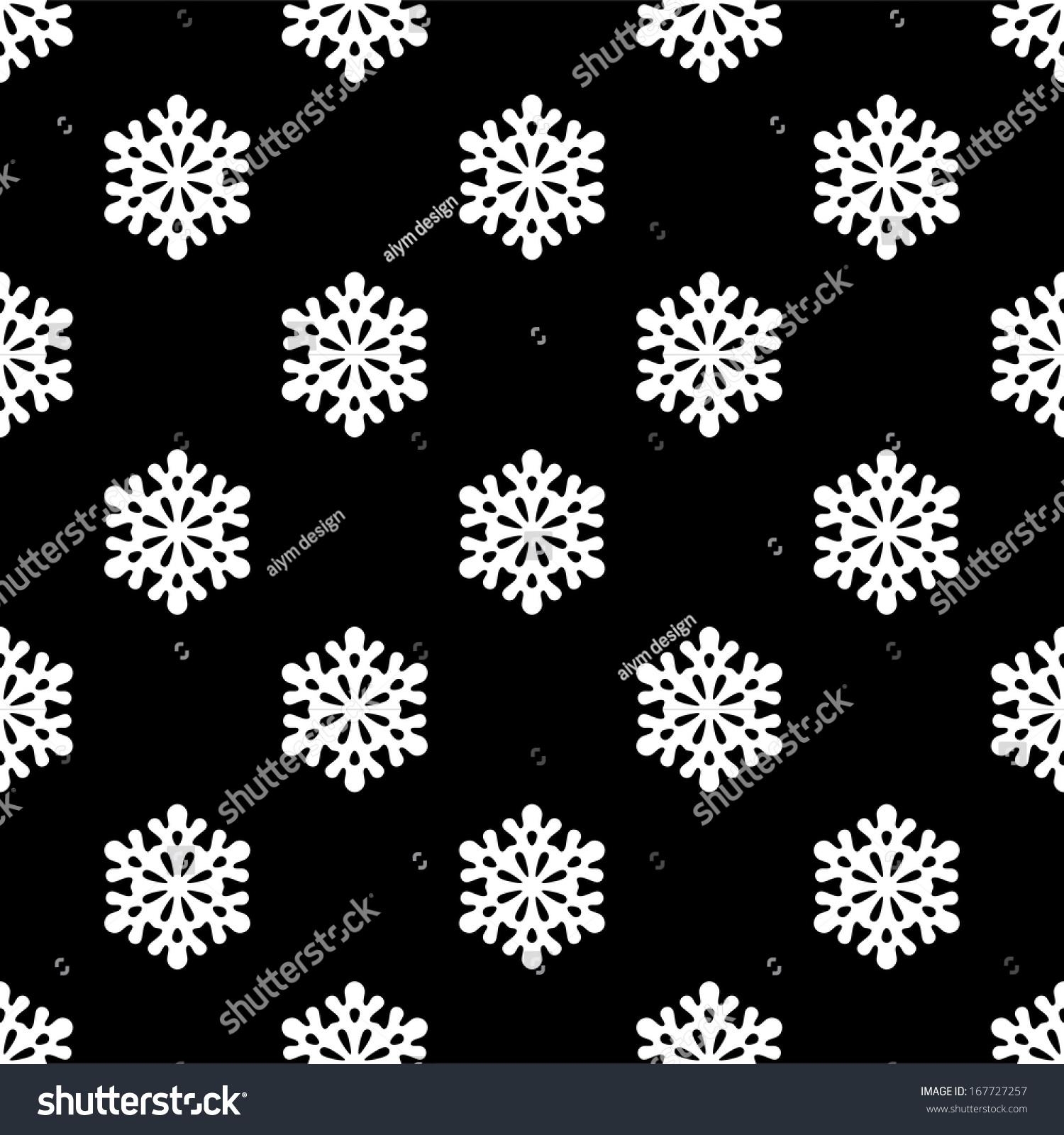 Black snowflake vector free