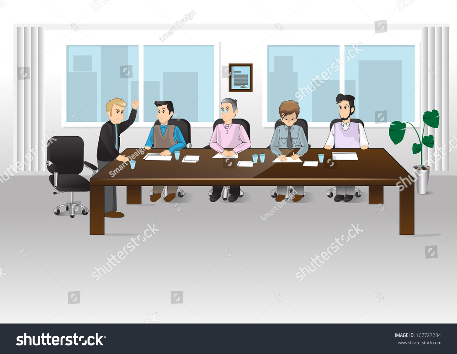 People in office vector illustration graphic design for Office design vector