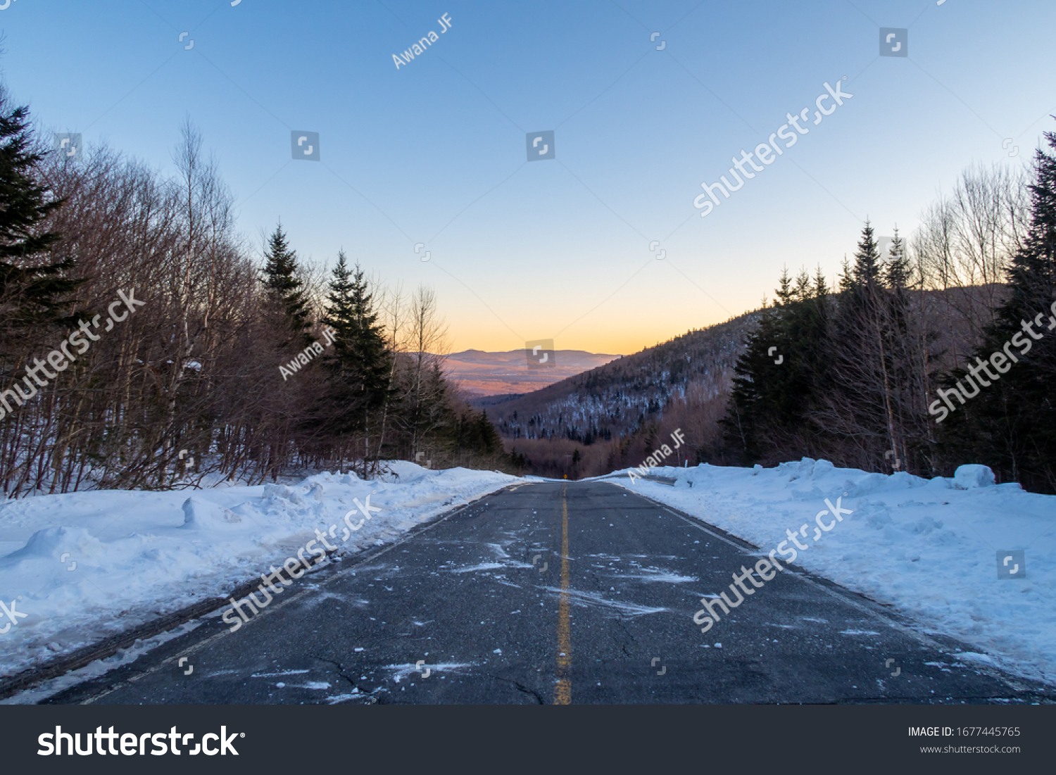 stock-photo-view-of-a-road-separated-wit