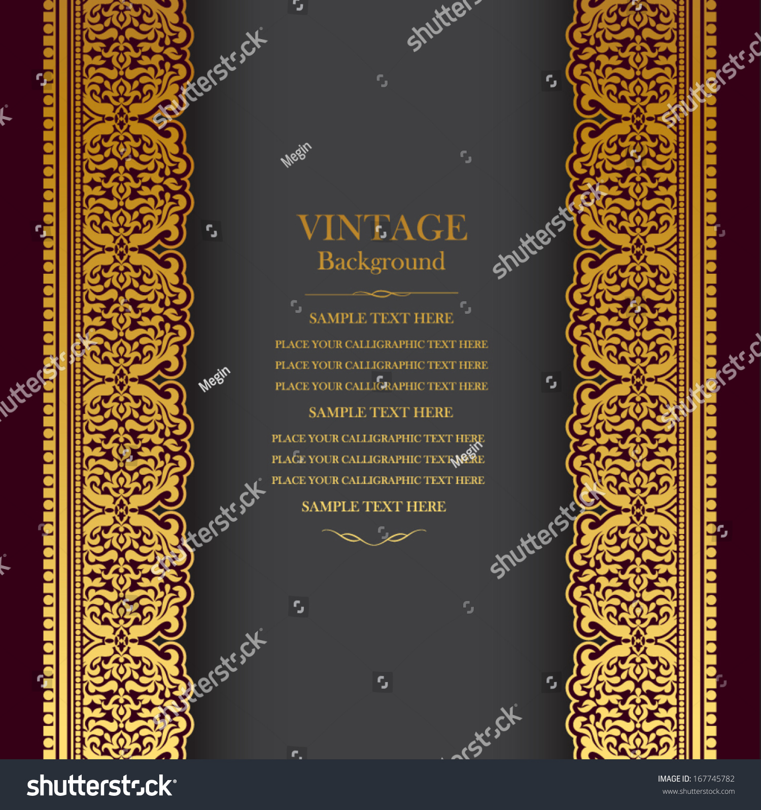 vintage background design elegant book cover stock vector