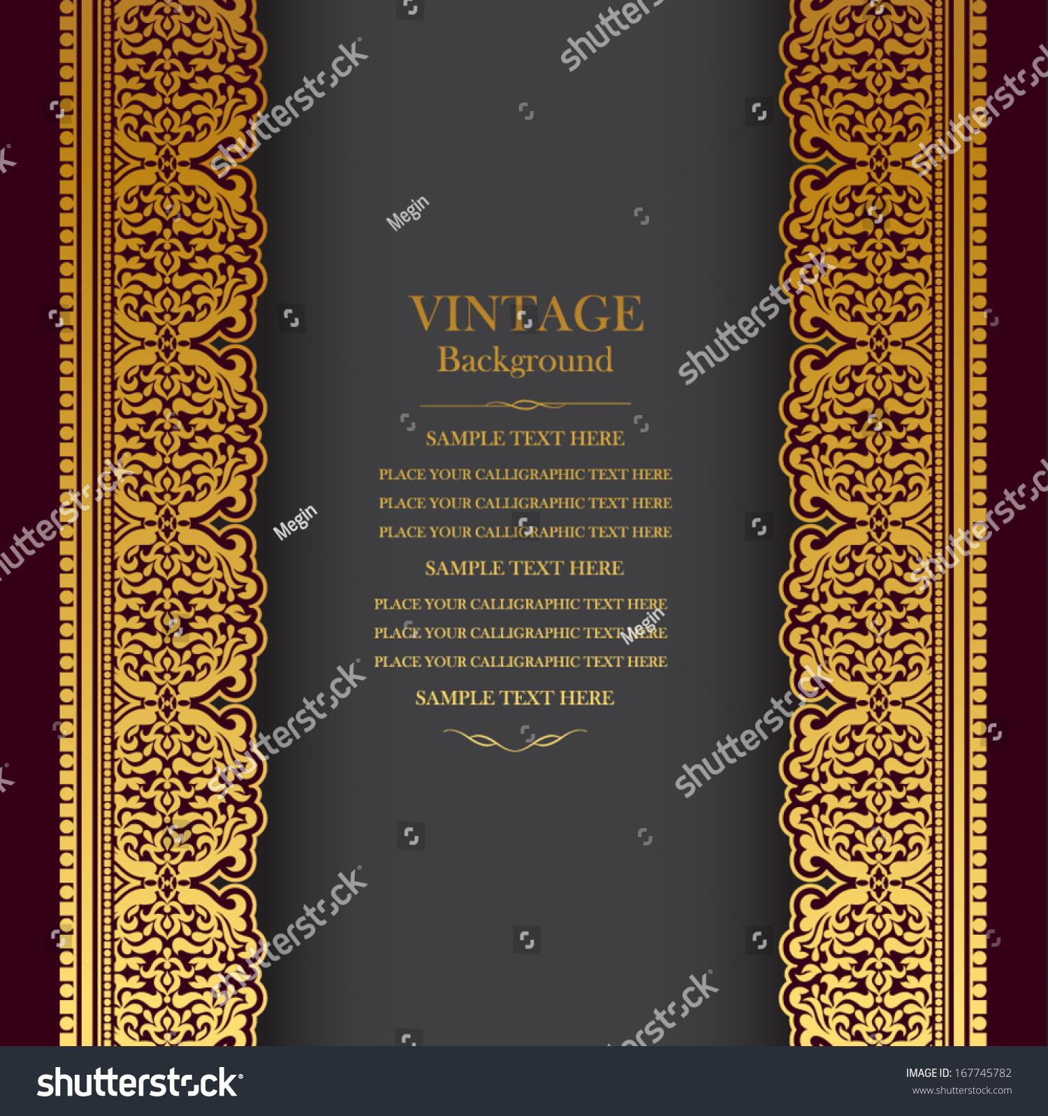 vintage background design elegant book cover stock vector 167745782
