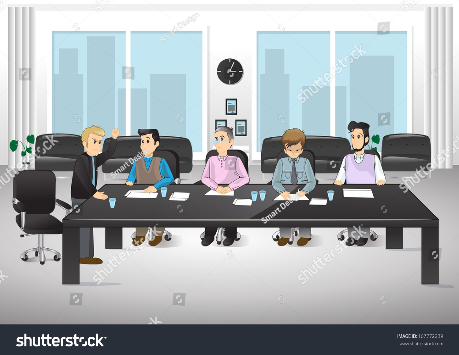 People Office Vector Illustration Graphic Design Stock