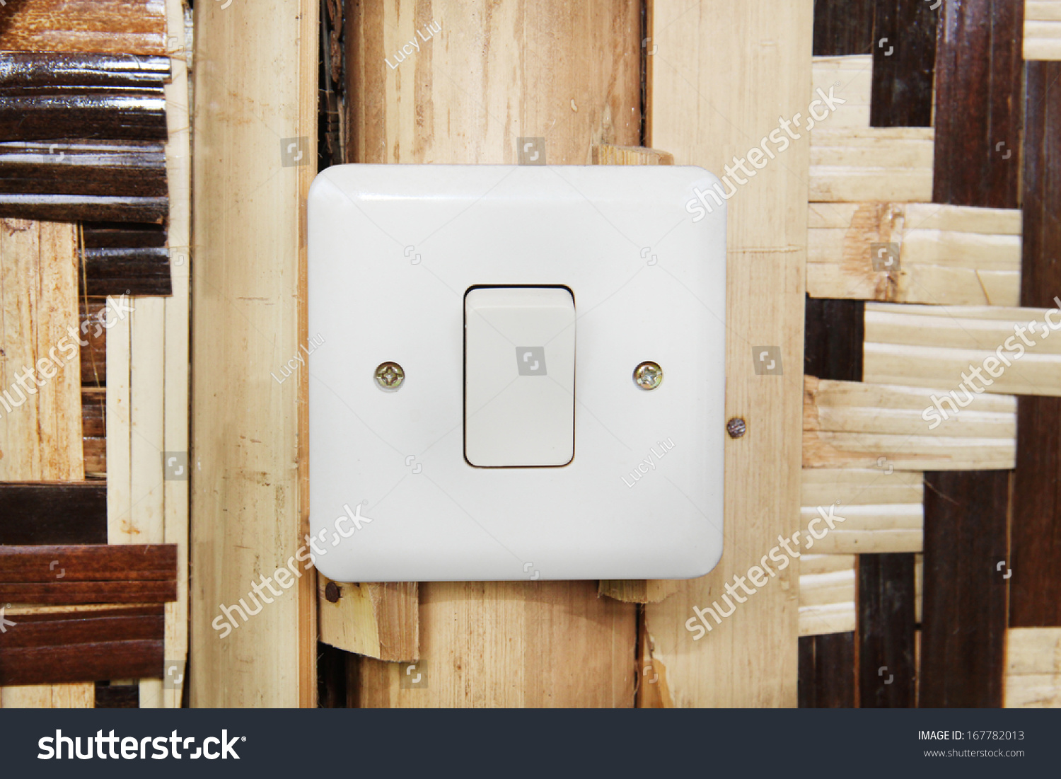 Modern Electrical Switches Colors Switch Country Hut Stock Photo 167782013
