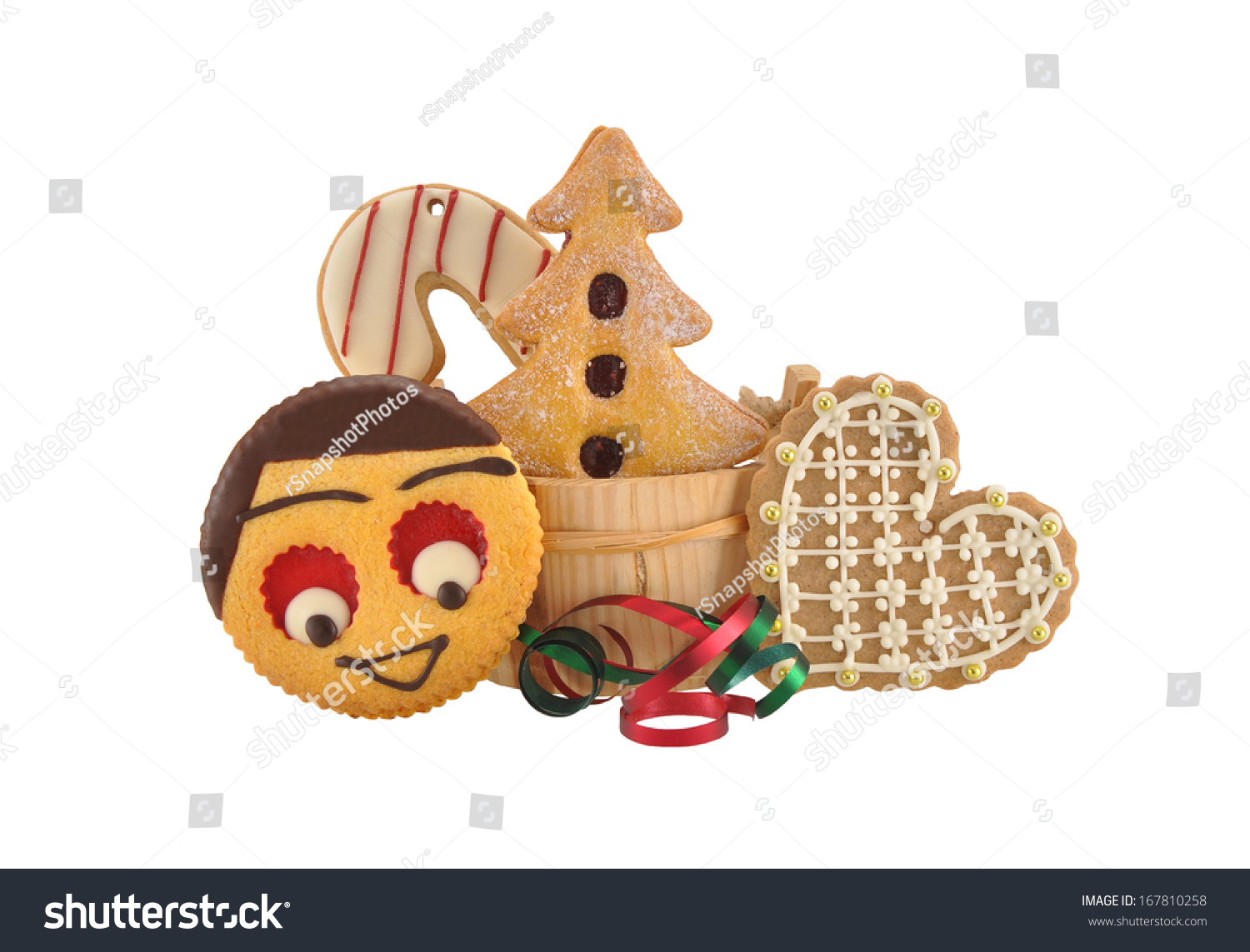 Christmas Butter Cookies Smiling Face Candy Stock Photo Edit Now