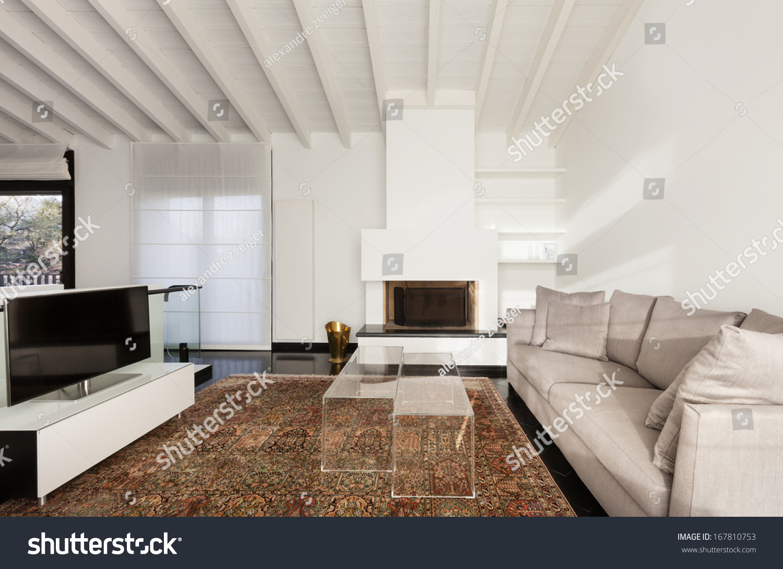 Interior Comfortable Loft Modern Furniture Living Room Stock Photo 167810753 Shutterstock