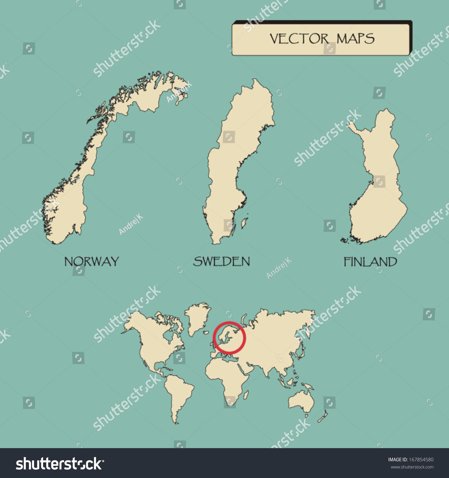 Map scandinavia countries sweden norway finland stock vector map of scandinavia countries sweden norway finland vector illustration gumiabroncs Gallery