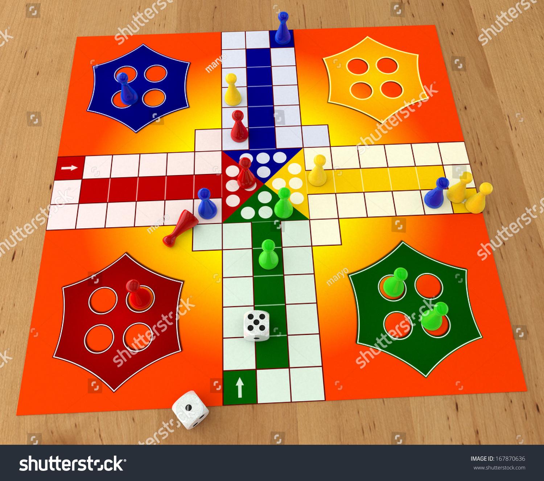 Ilustracoes Stock Imagens E Vetores De Ludo Board Game Dices On Wooden 167870636