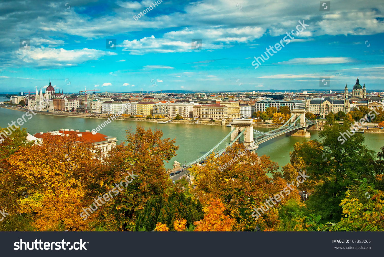 Nice View On Budapest Hungary Stock Photo 167893265