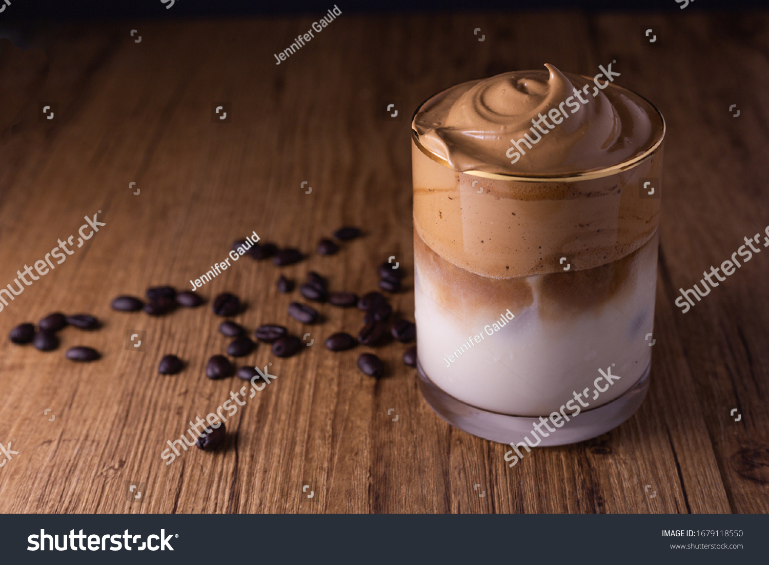 Iced Dalgona Coffee, a trendy fluffy creamy whipped coffee #1679118550
