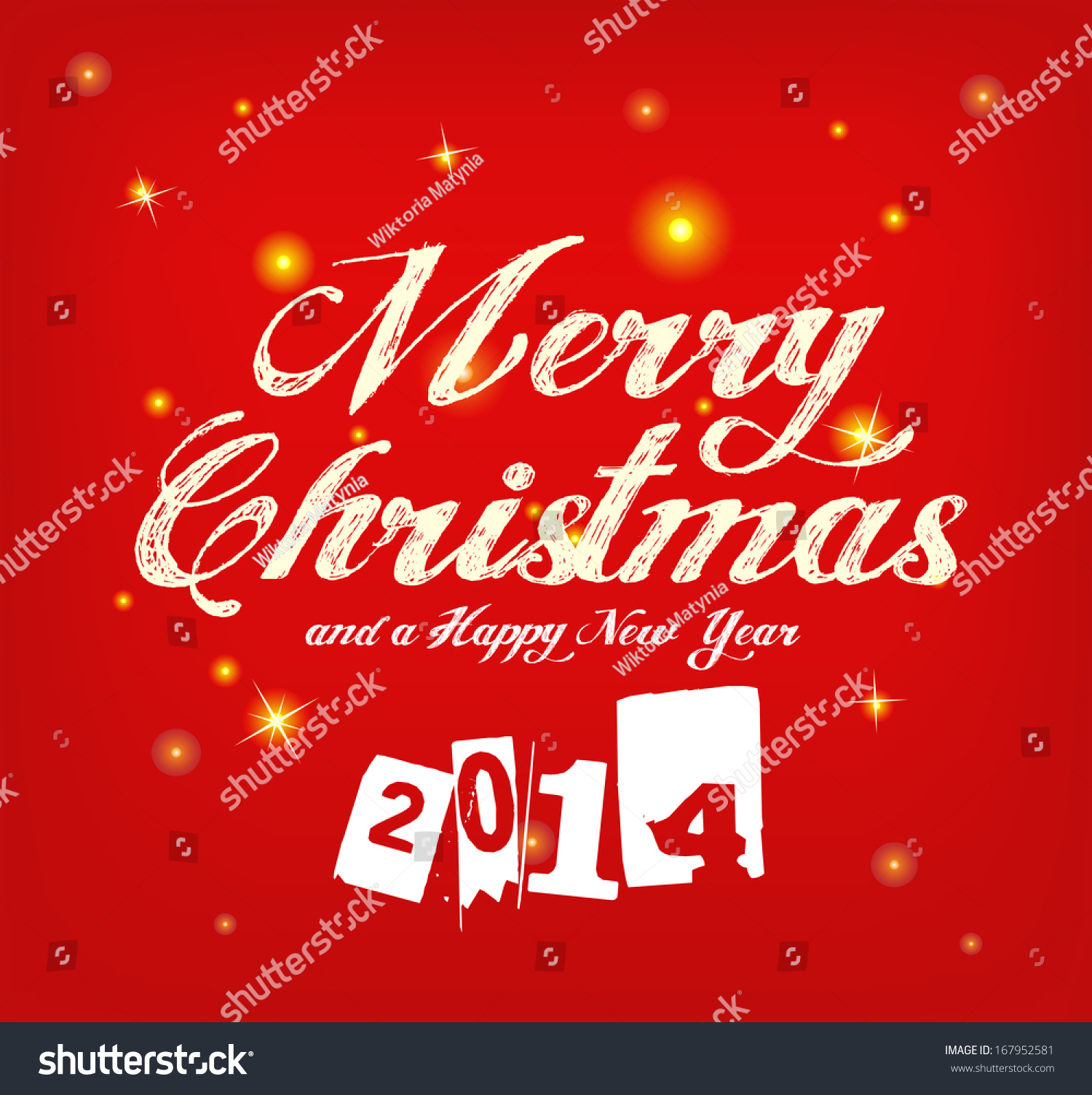 Beautiful red greeting card sparkling background stock vector beautiful red greeting card with sparkling background merry christmas and a happy new year 2014 m4hsunfo