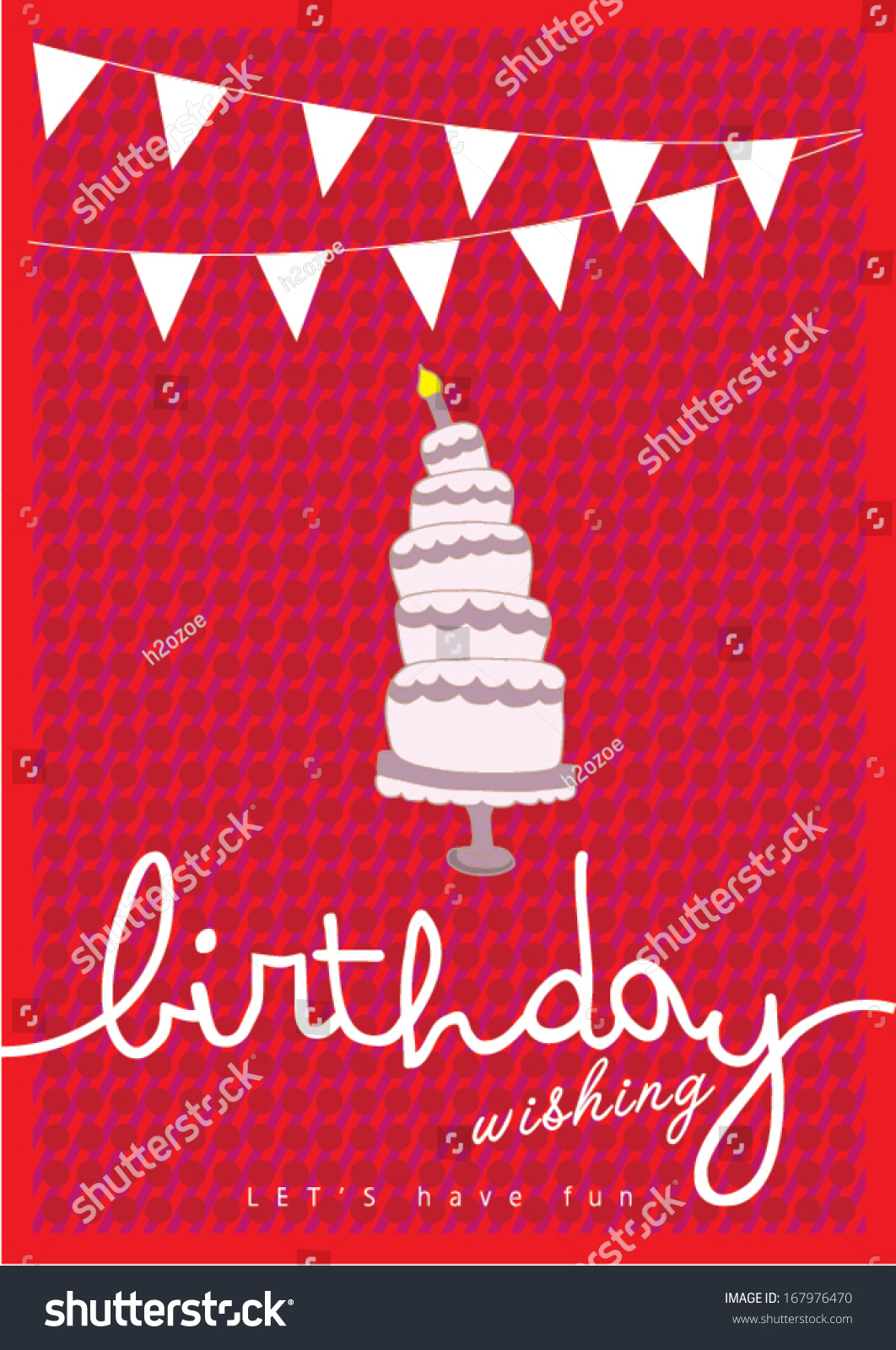 Happy Birthday Poster Template Vectorillustration Layout – Birthday Card Layout