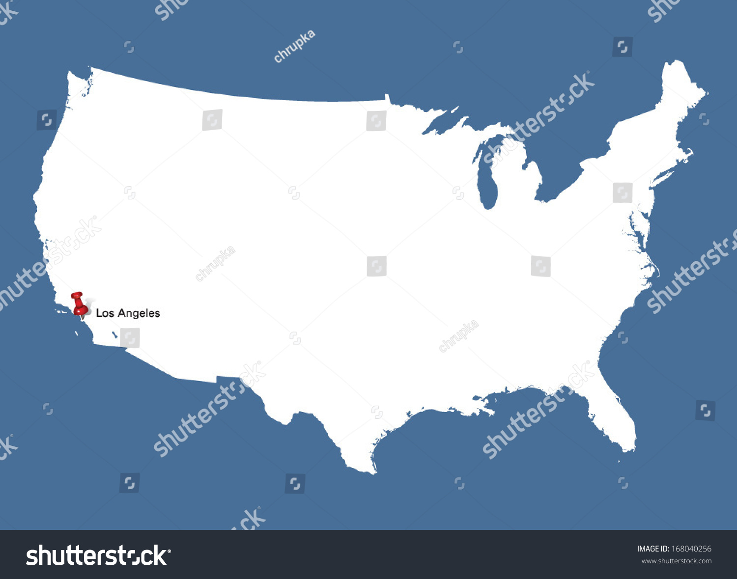White Usa Map Push Pin Pointing Stock Vector Shutterstock - Usa map white