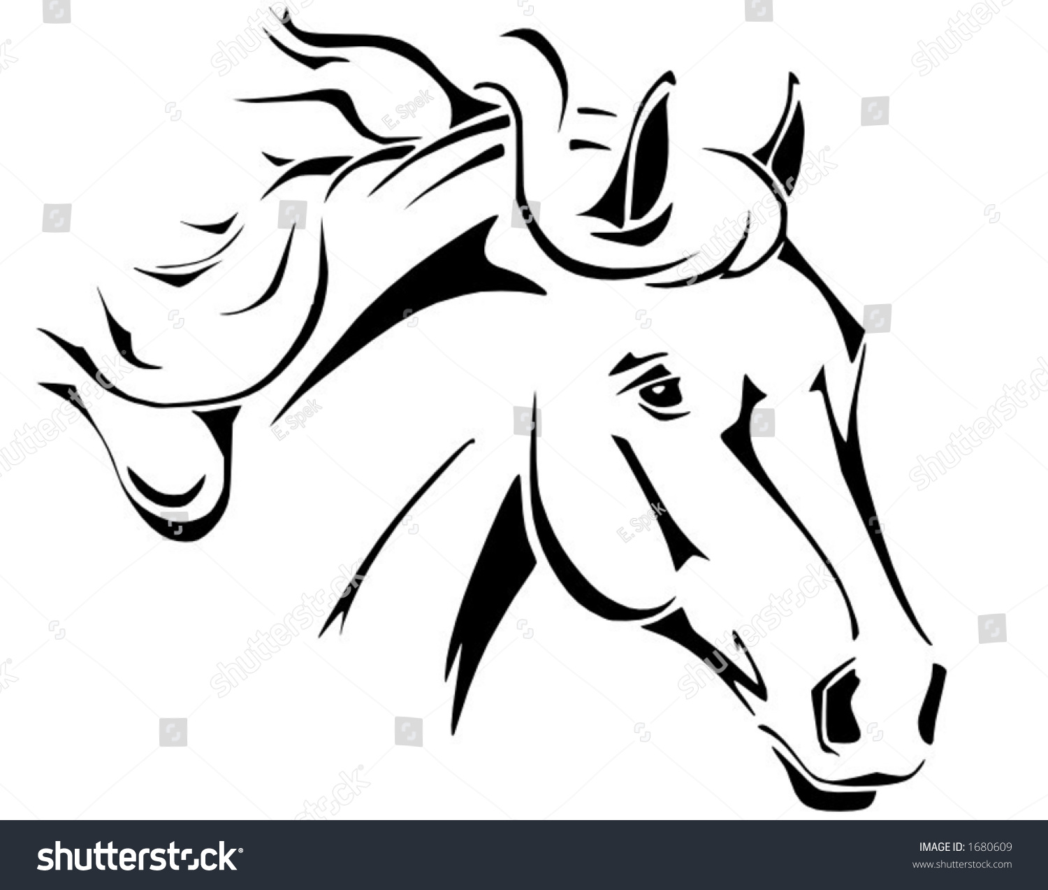 tribal horse head design perfect logo stock vector 1680609 shutterstock. Black Bedroom Furniture Sets. Home Design Ideas