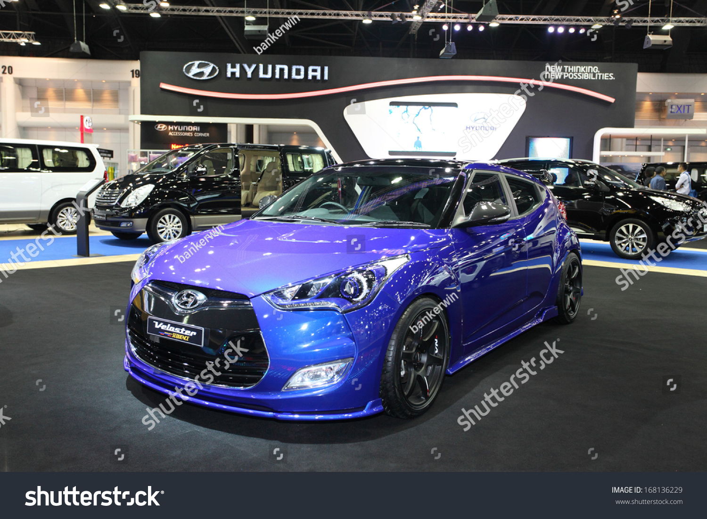 NONTHABURI NOVEMBER Hyundai Velaster Turbo Car On Display At - Car show display accessories
