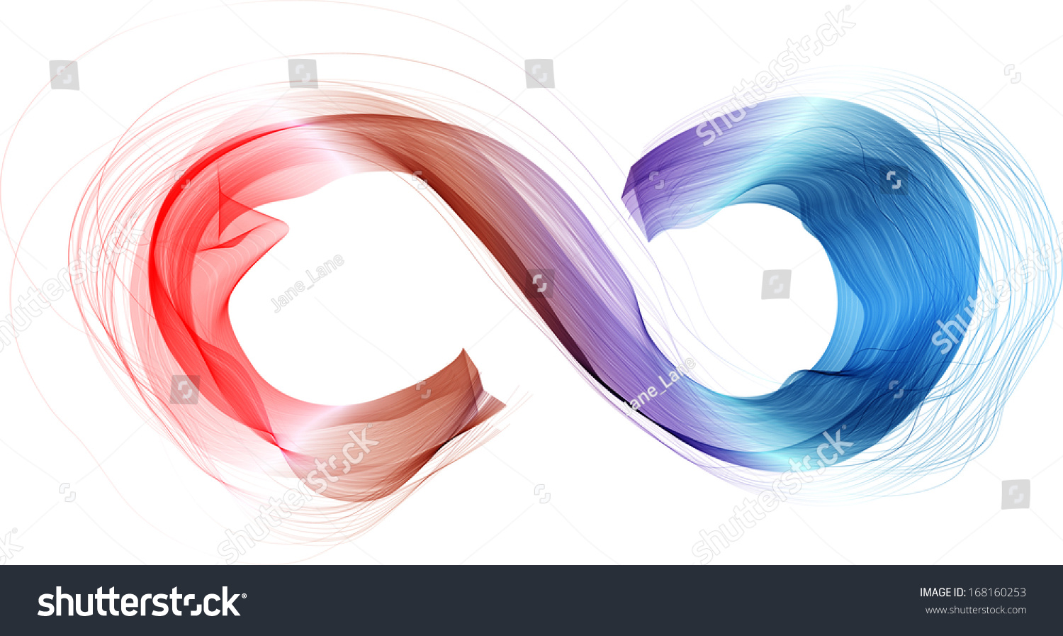 Abstract Infinity Symbol Colorful Smoke Waves Stock Illustration