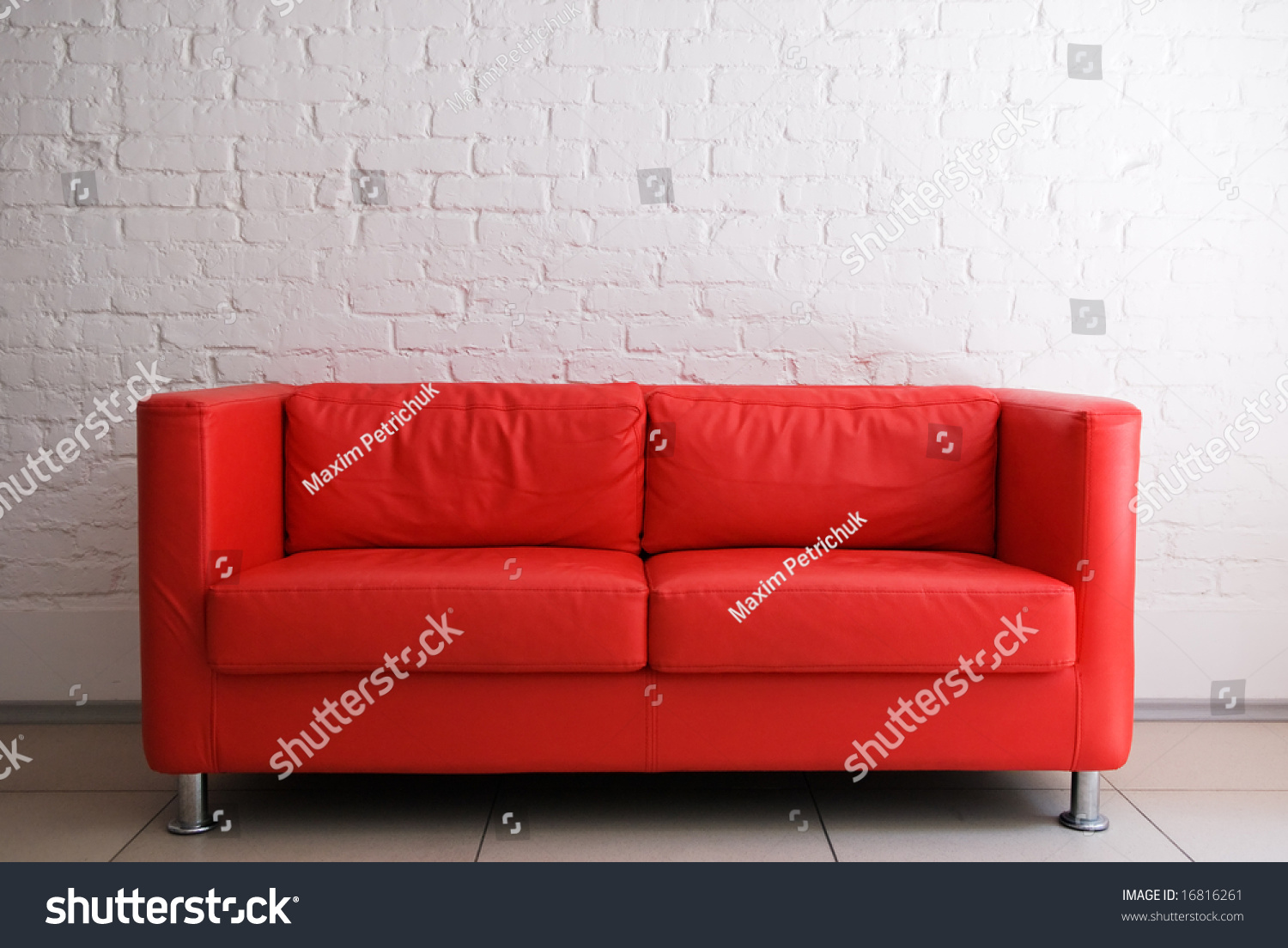 Red And White Sofa » Home Design 2017