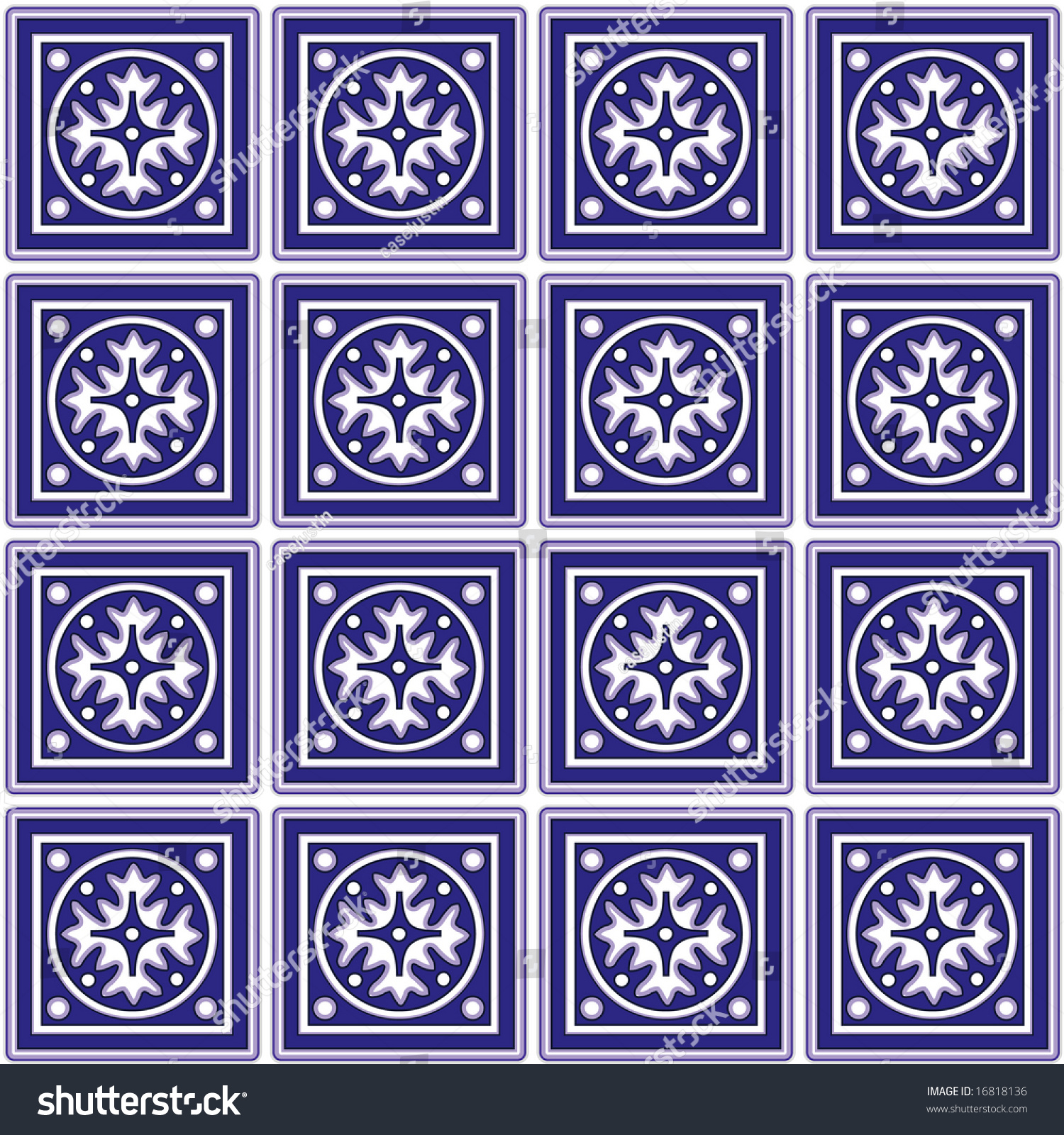 kitchen tiles classic blue white ceramic stock illustration