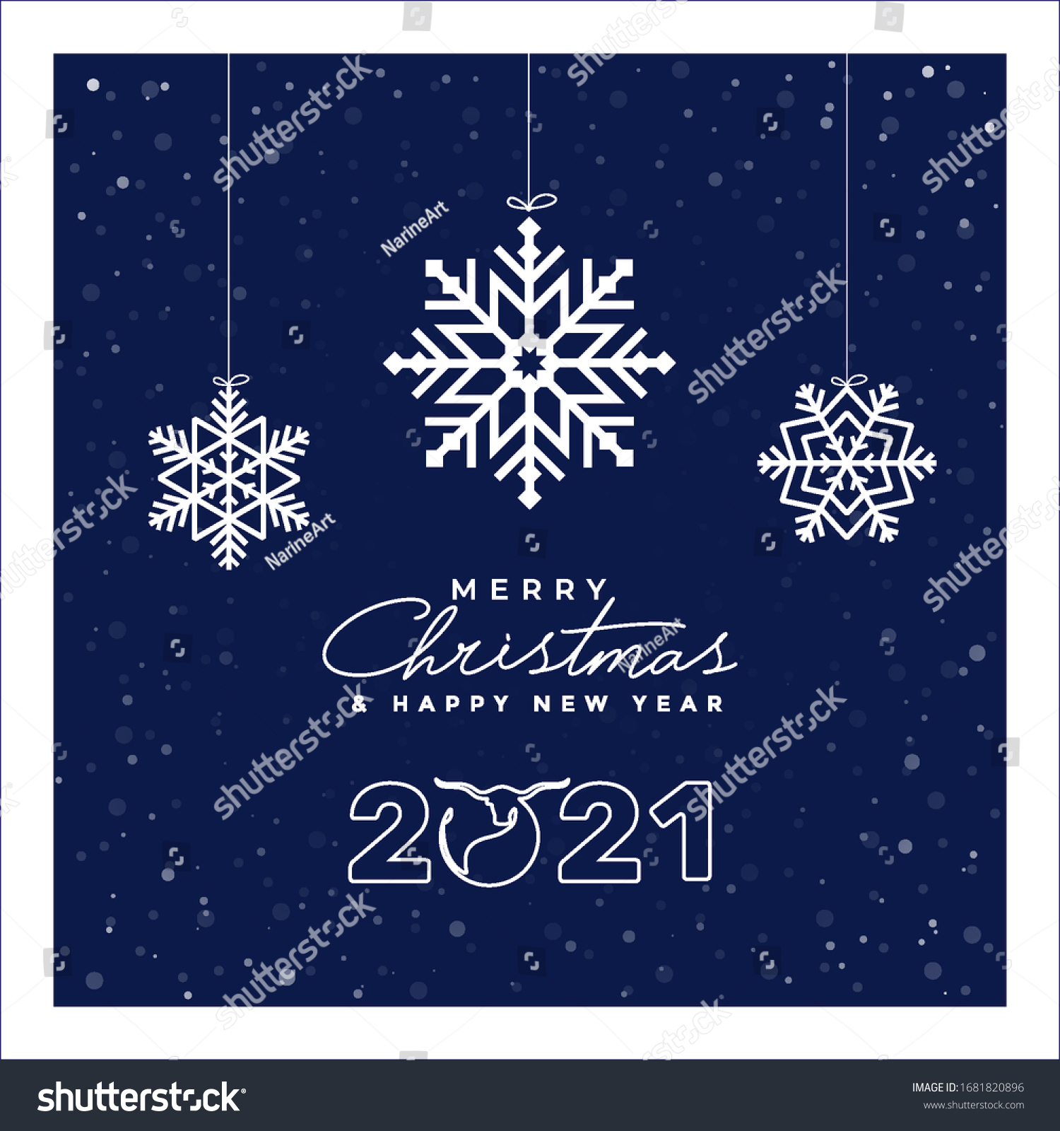 Hanging Banner Images Merry Christmas & Happy New Year 2021 Merry Christmas Happy New Year 2021 Stock Vector Royalty Free 1681820896