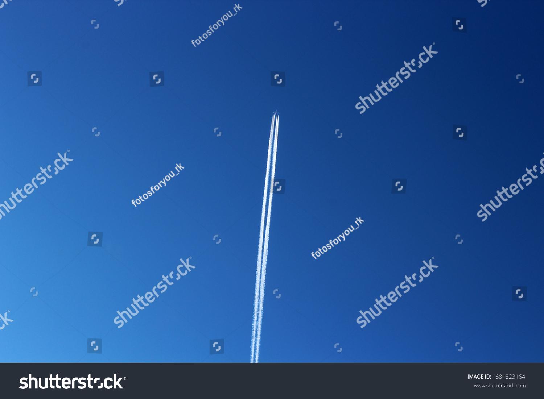 Plane against a blue sky