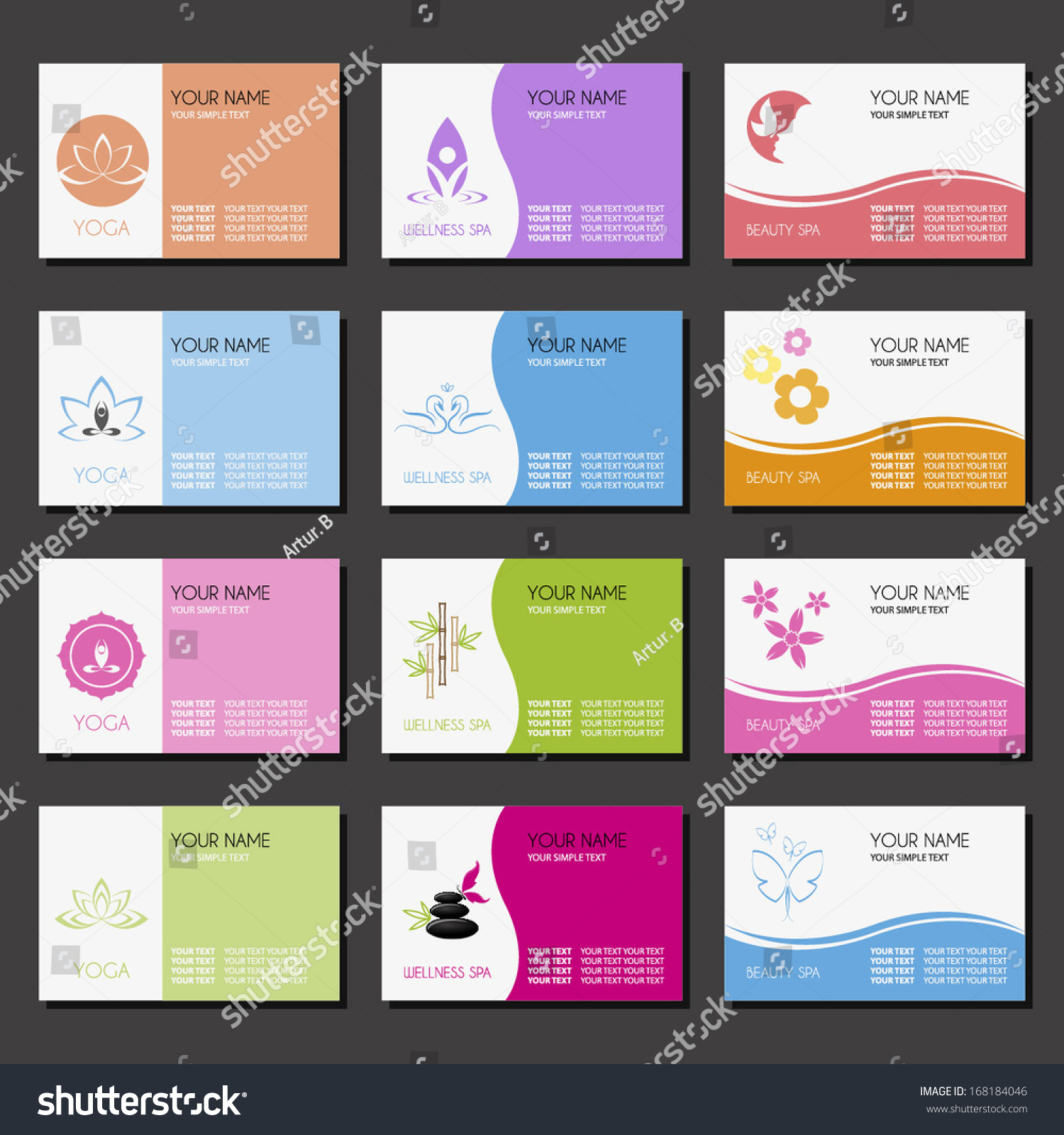yoga business cards