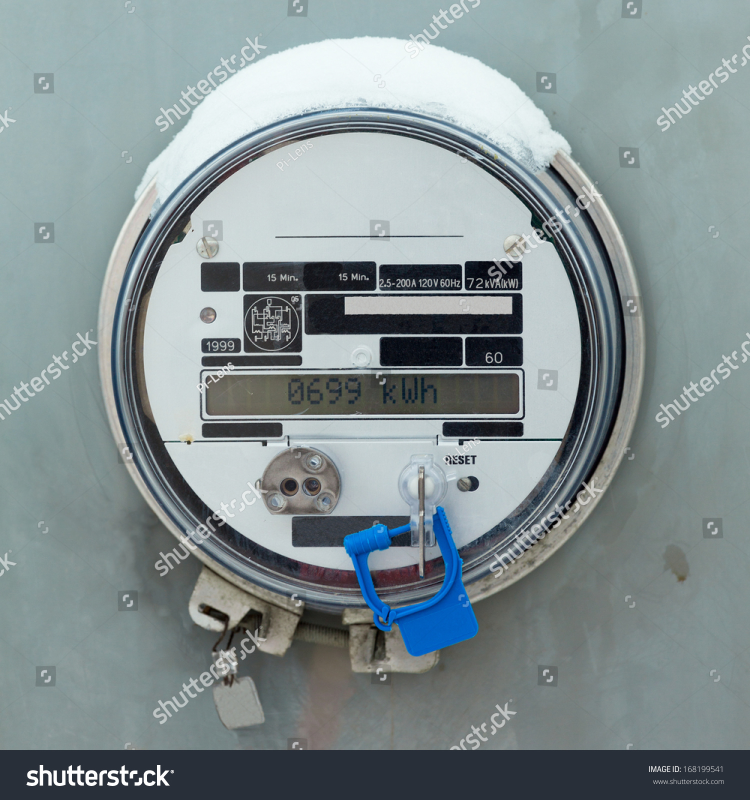 Residential Energy Meter : Modern smart grid residential digital power stock photo