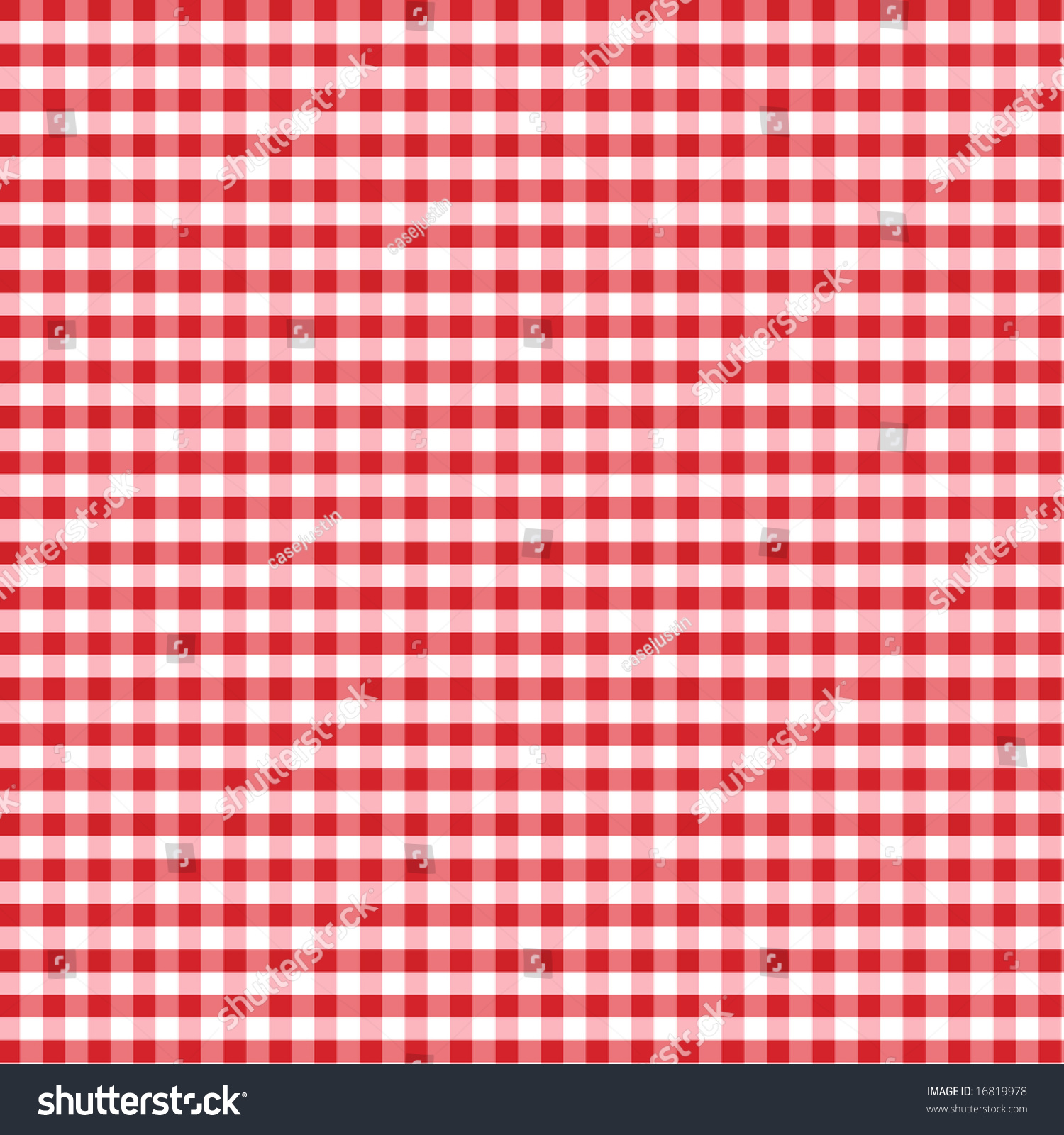 Gingham Check Pattern In Red And White For Tablecloths, Napkins, Curtains,  Home Decorating