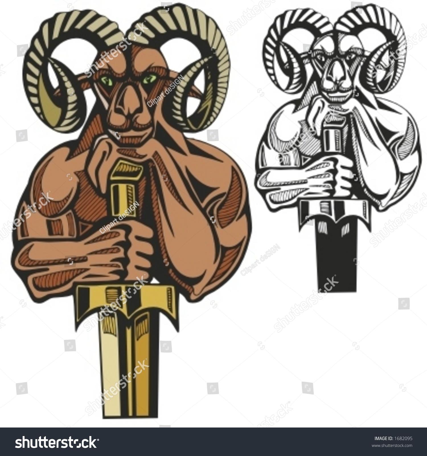 ram mascot for sport teams great for t shirt designs school mascot logo