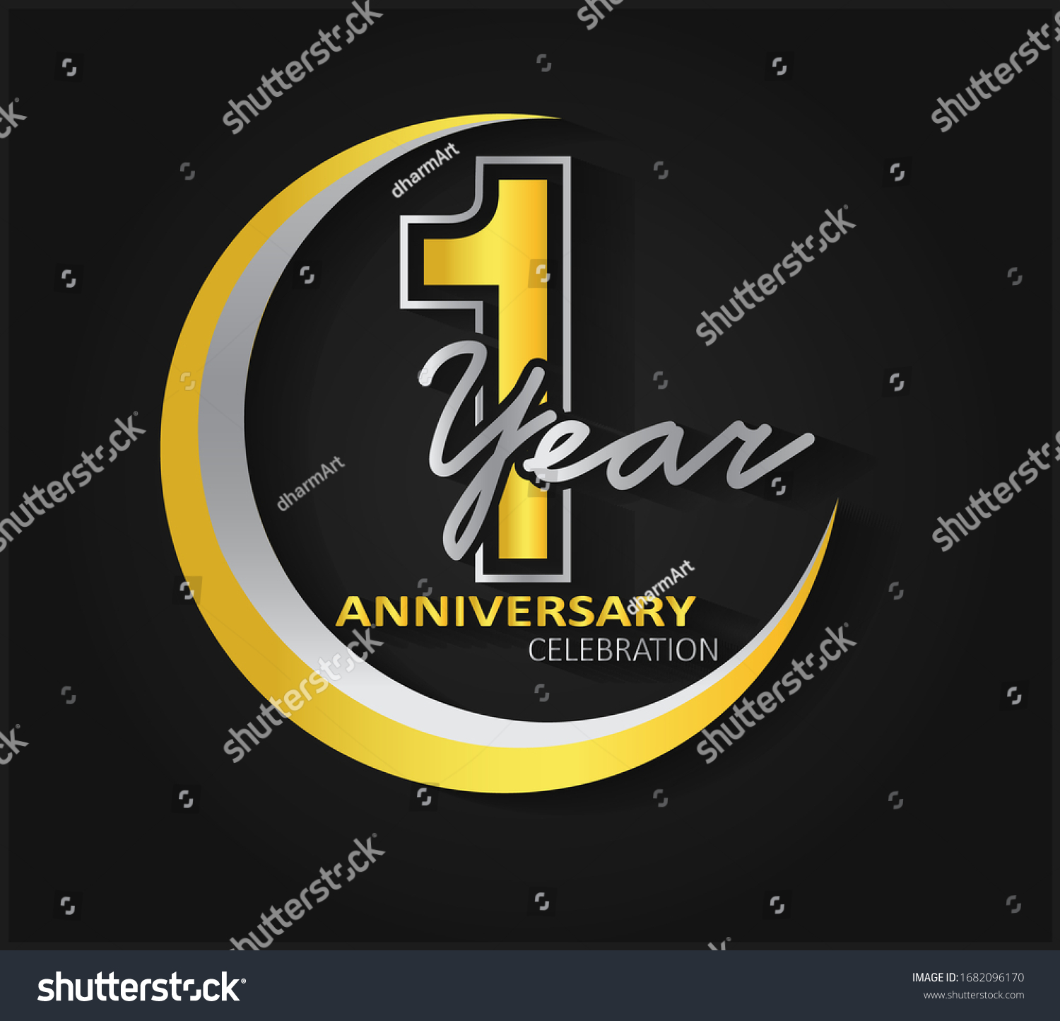 1st anniversary celebration anniversary logo ring stock vector royalty free 1682096170 shutterstock