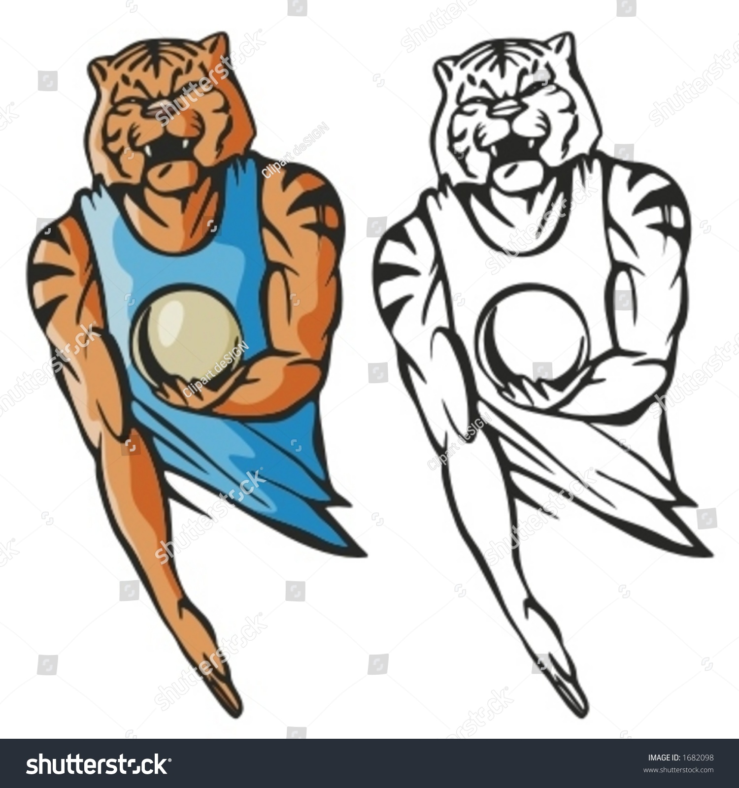 T shirt design volleyball - Tiger Volleyball Mascot Great For T Shirt Designs School Mascot Logo And Any