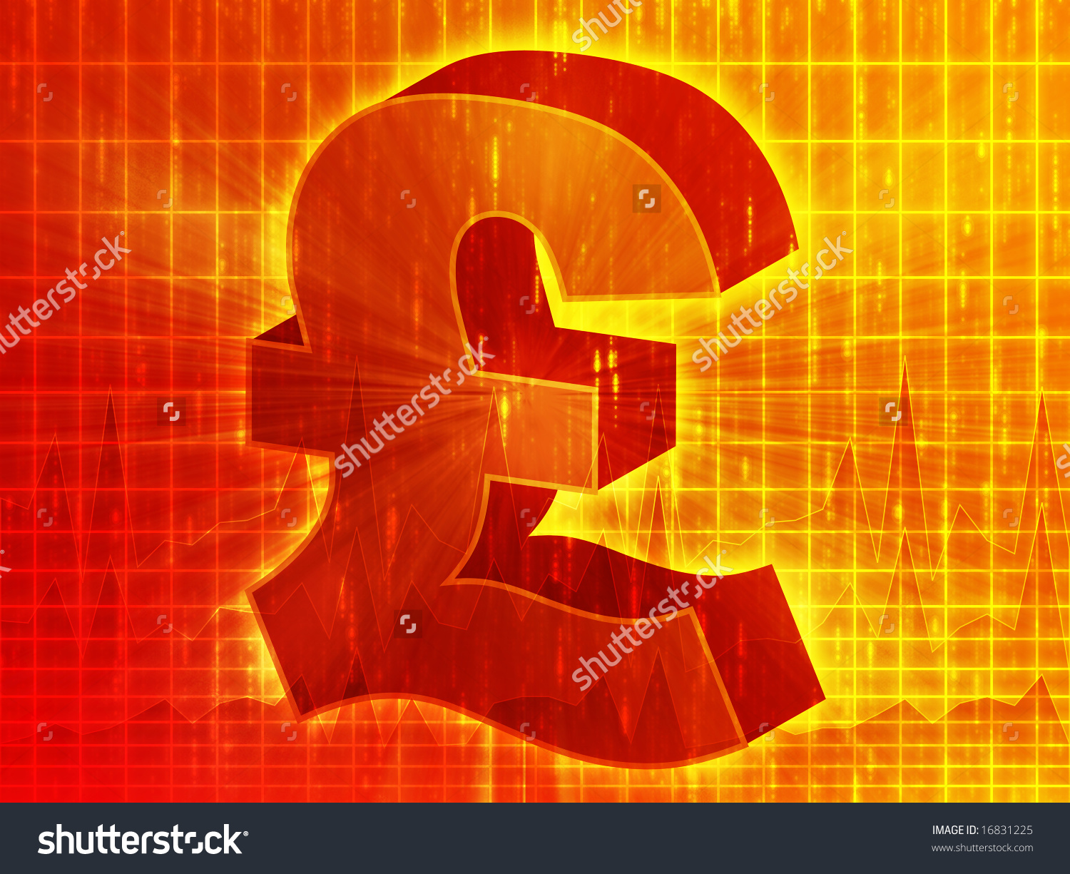 British pound currency symbol over financial stock illustration british pound currency symbol over financial chart diagram biocorpaavc Images