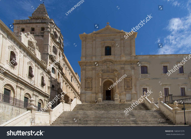 San francesco baroque church noto sicily stock photo for Baroque italien