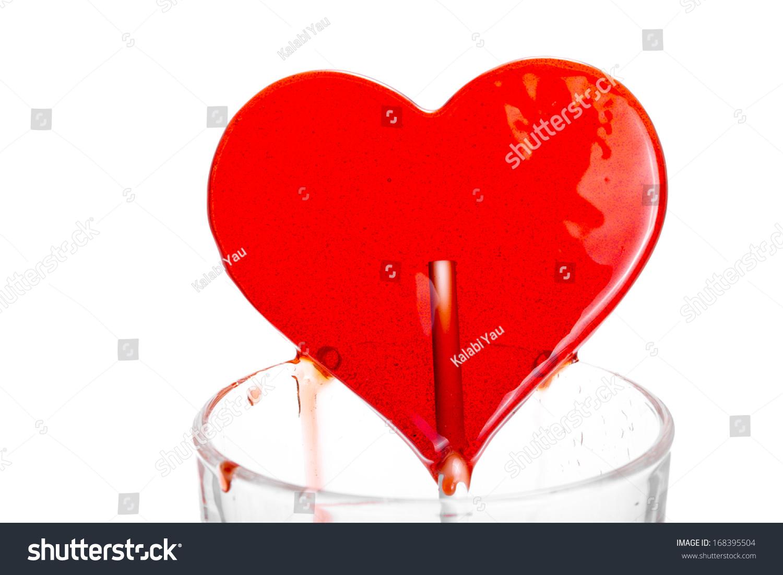 Bleeding heart heartshape lollipop glass stock photo 168395504 bleeding heart heart shape lollipop in the glass buycottarizona
