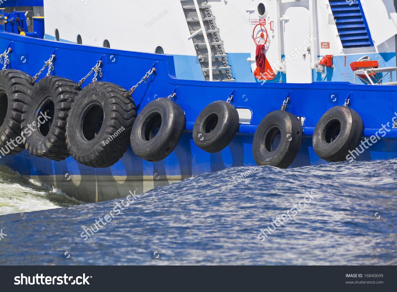 moving tugboat detail