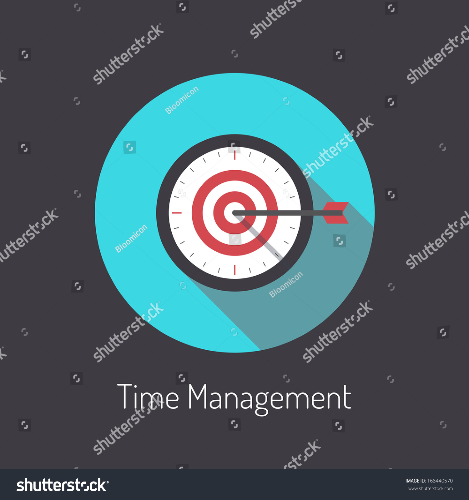 Flat design modern vector illustration poster concept of for Time design planner