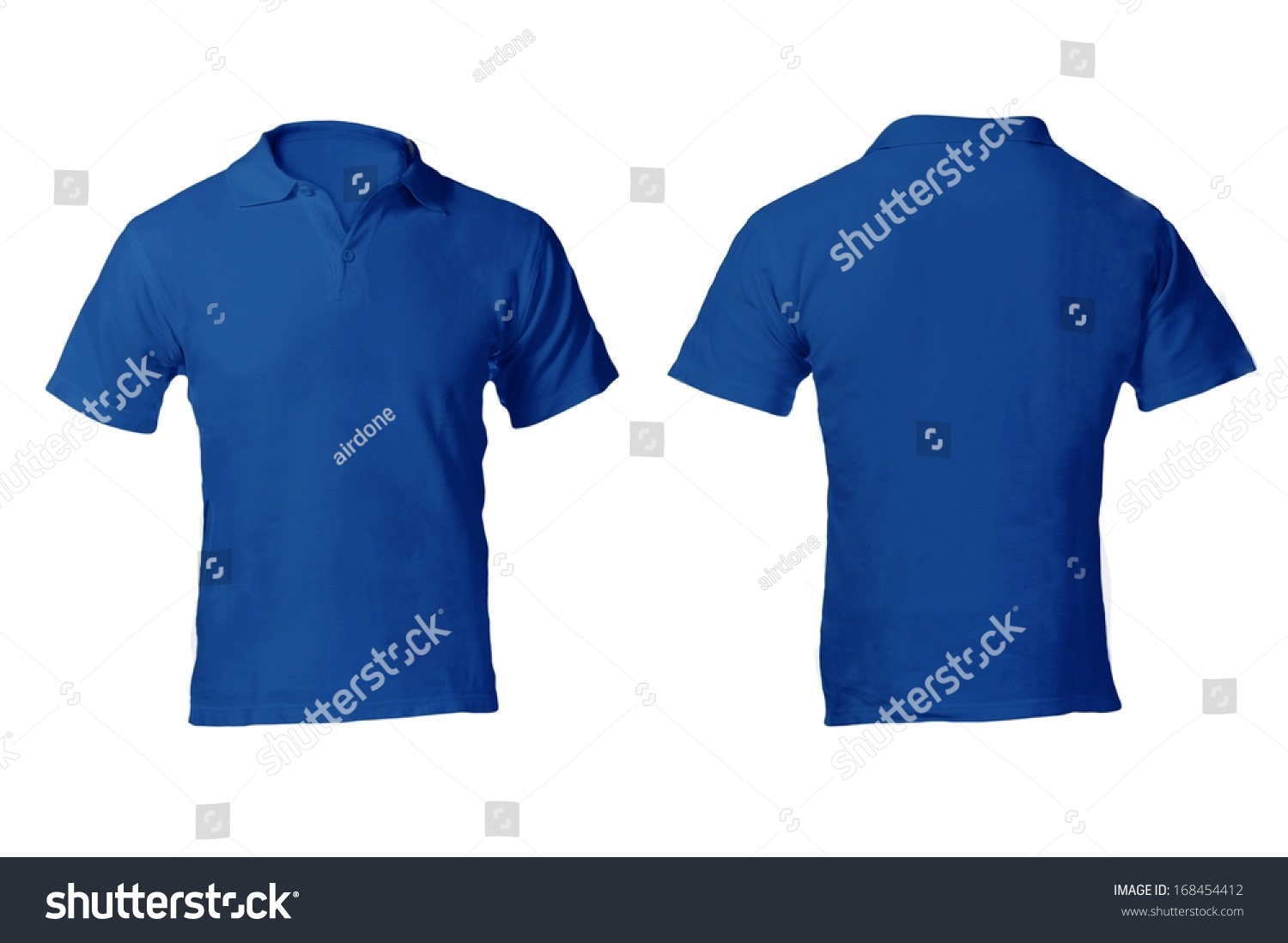 Mens Blank Blue Polo Shirt Front Stock Photo 168454412