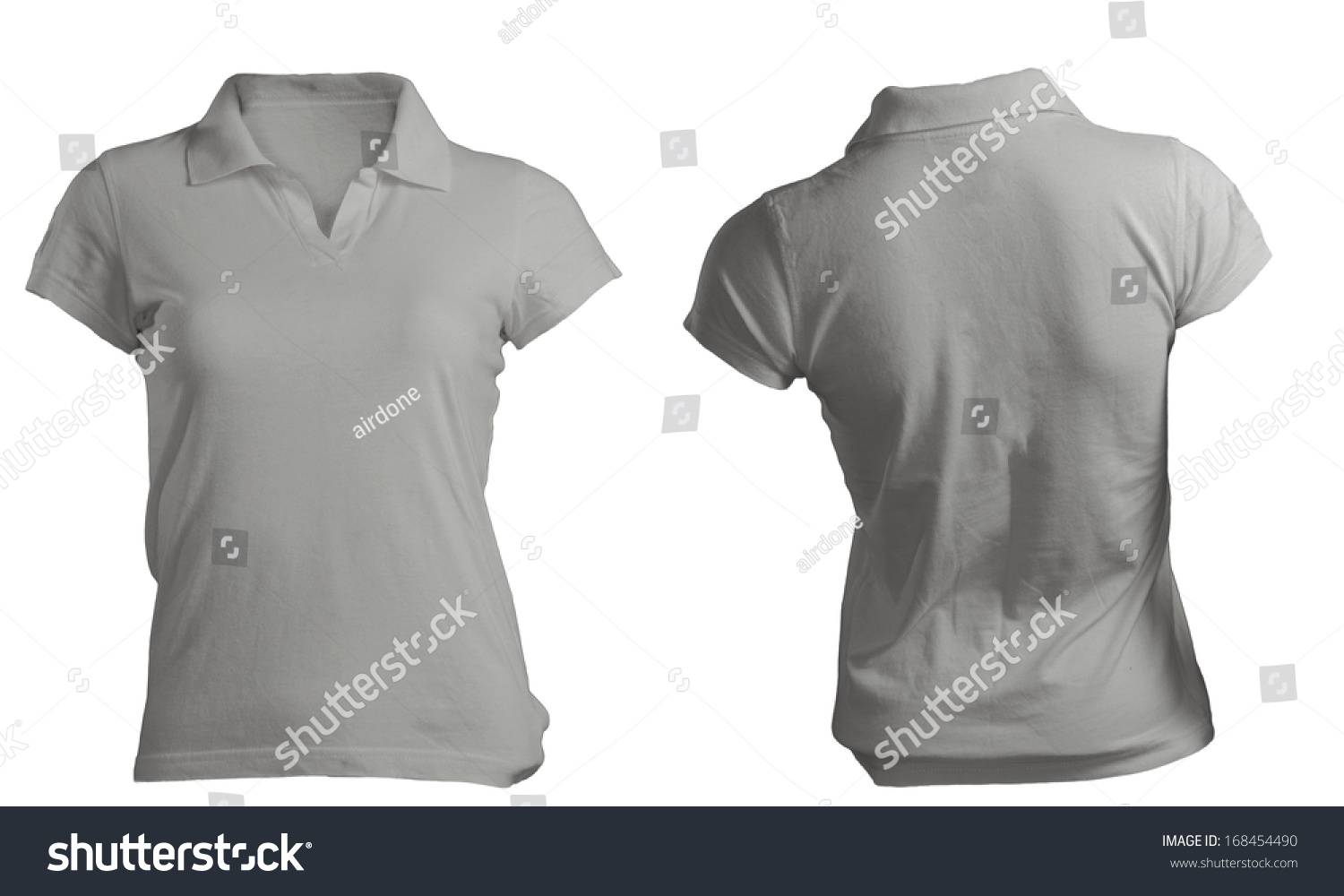 Blank black t shirt front and back - Women S Blank Grey Polo Shirt Front And Back Design Template