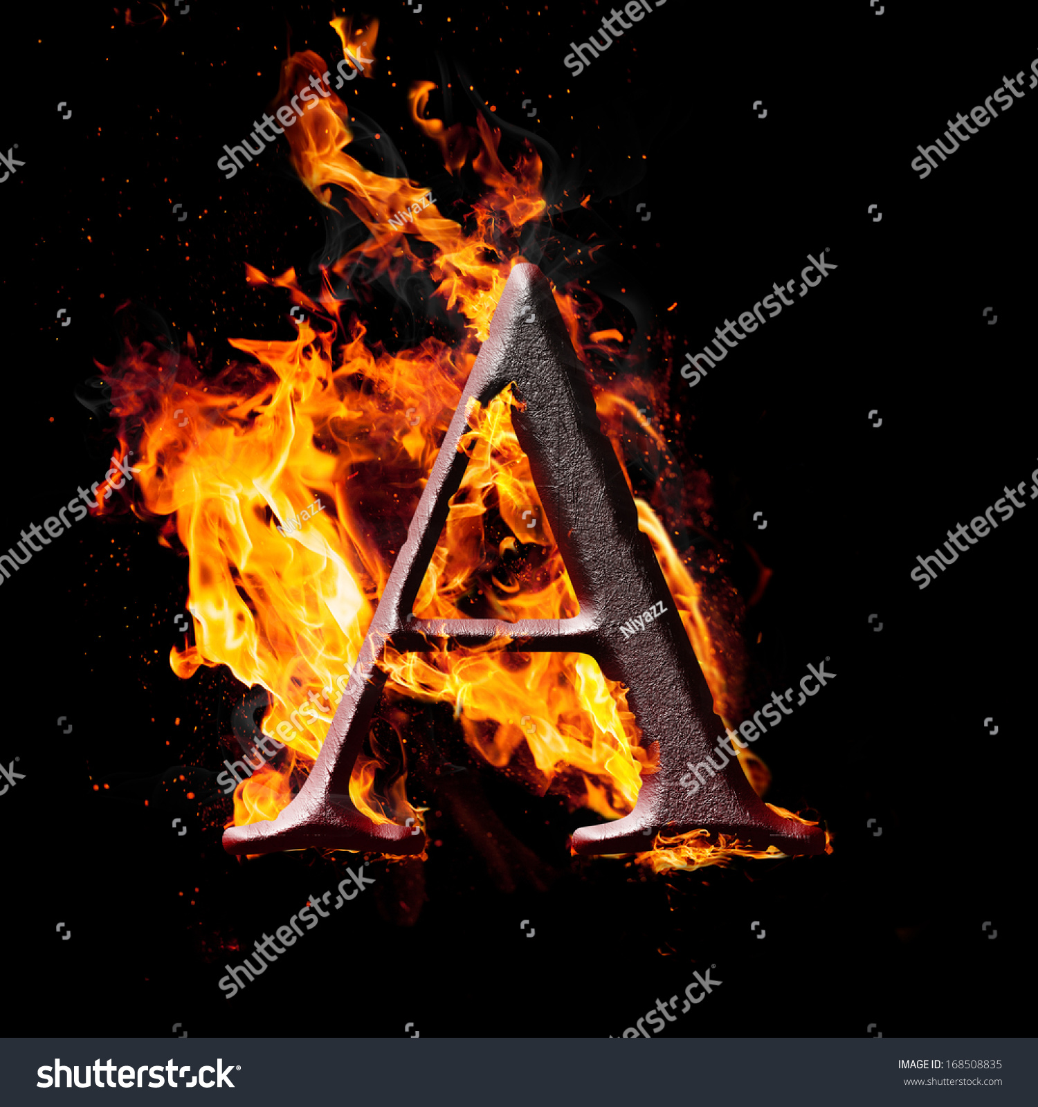 Letters symbols fire letter a stock illustration 168508835 letters and symbols in fire letter a thecheapjerseys Image collections