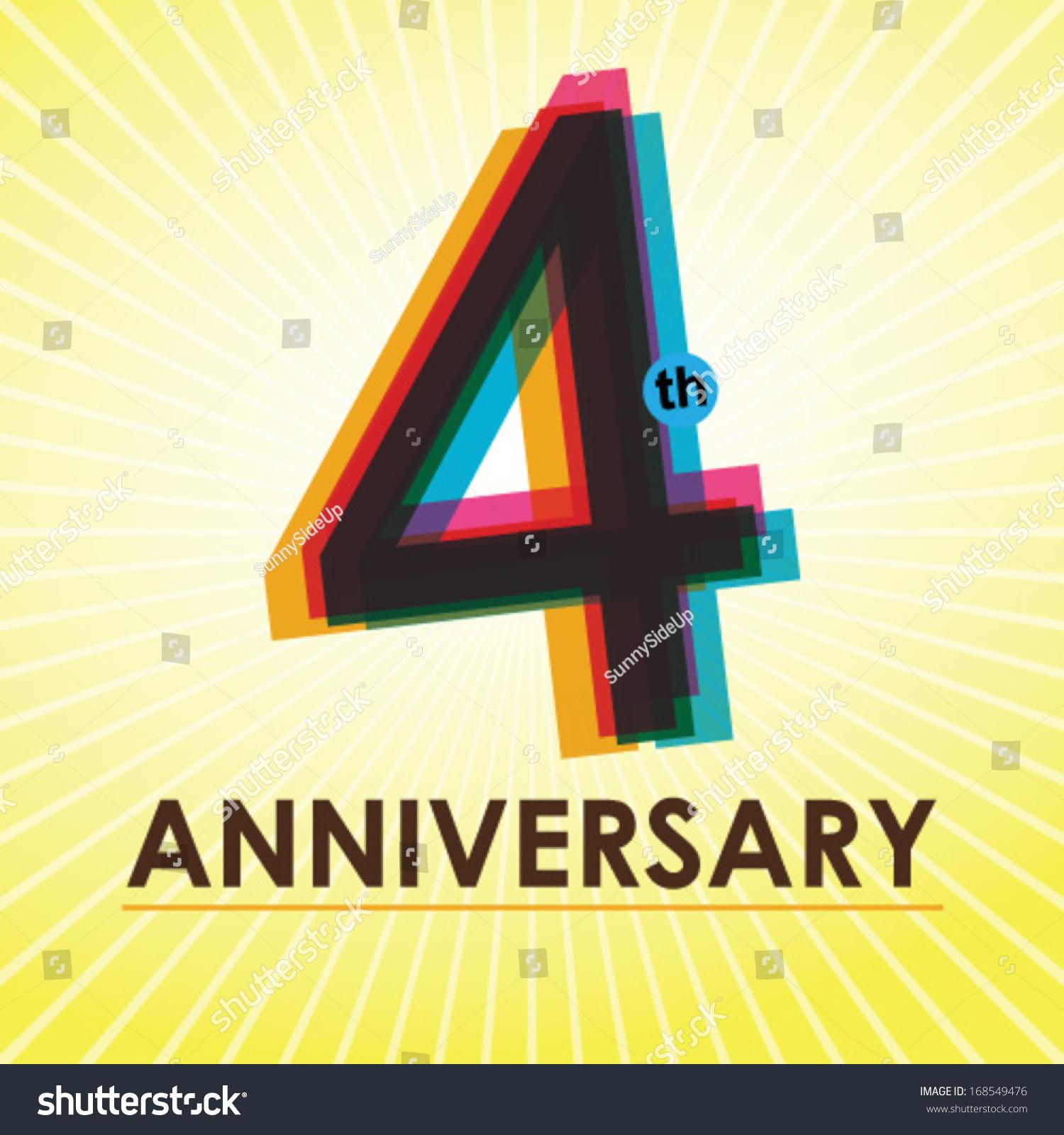 Th anniversary poster template design retro stock vector