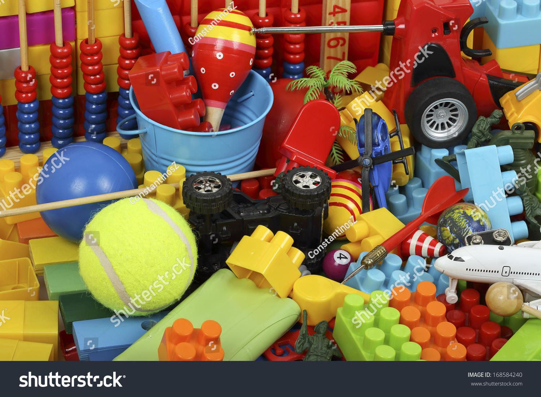 Variety Toys Childhood Items Stock Photo 168584240 ...