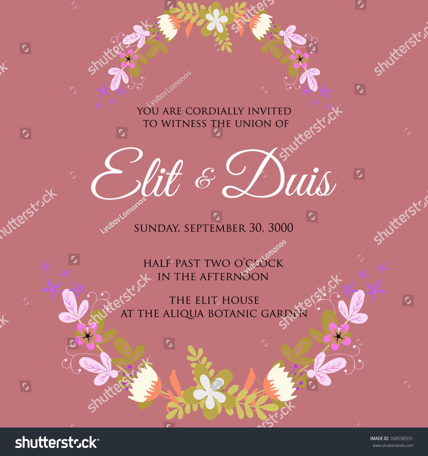 Magnificent Wedding Invitation You Are Cordially Invited Inspiration ...
