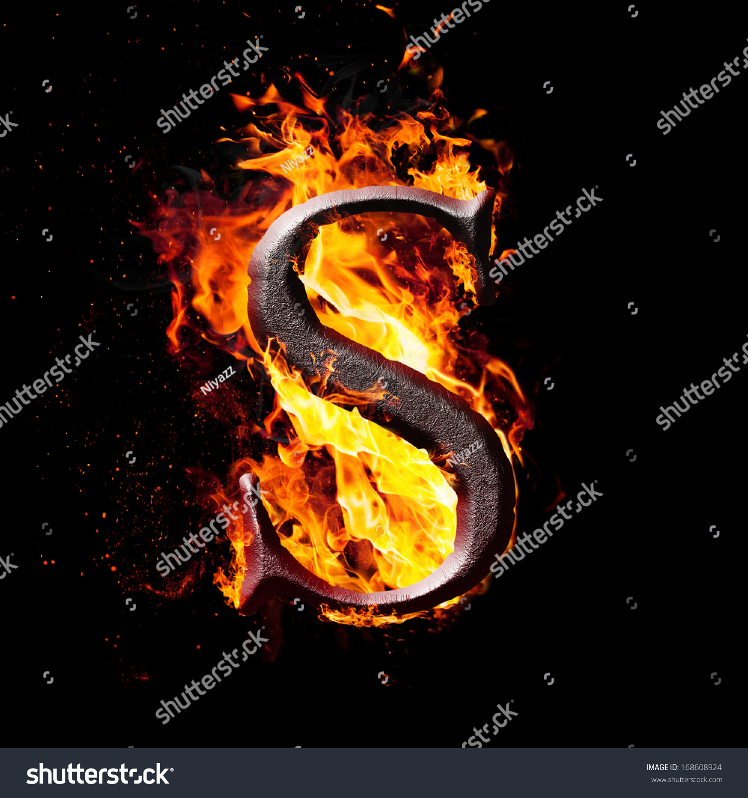 Royalty Free Stock Illustration Of Letters Symbols Fire Letter S