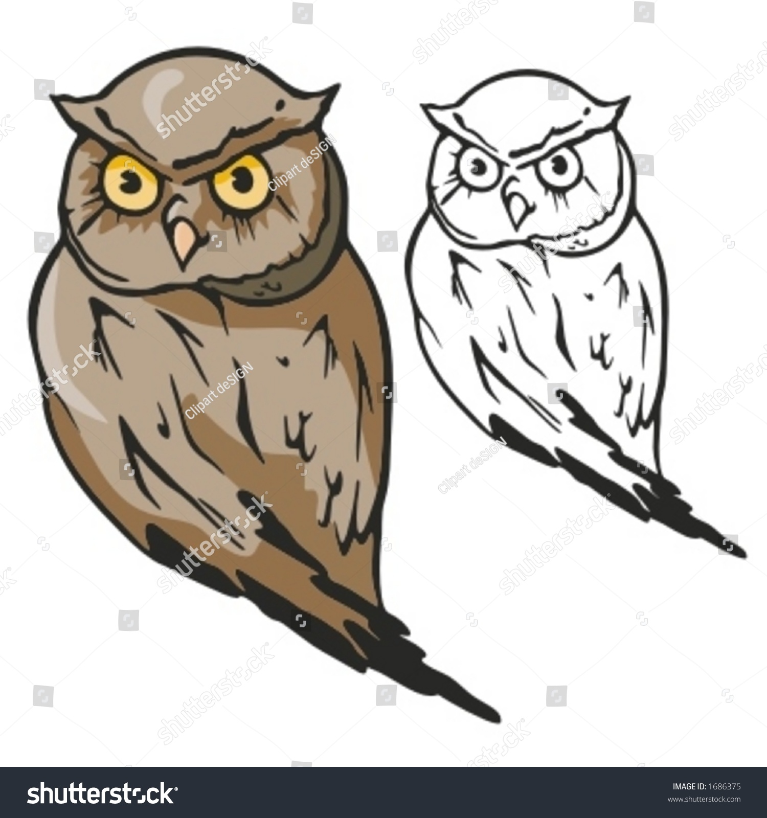 Owl Mascot Sport Teams Great Tshirt Stock Vector 1686375 ...