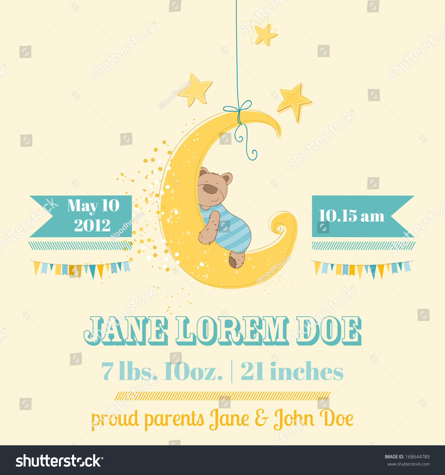Baby boy arrival card vector by leonart image 600444 vectorstock - Baby Shower Or Arrival Card In Vector 168644789 Wallpaper Gallery Baby Shower Card Vector By
